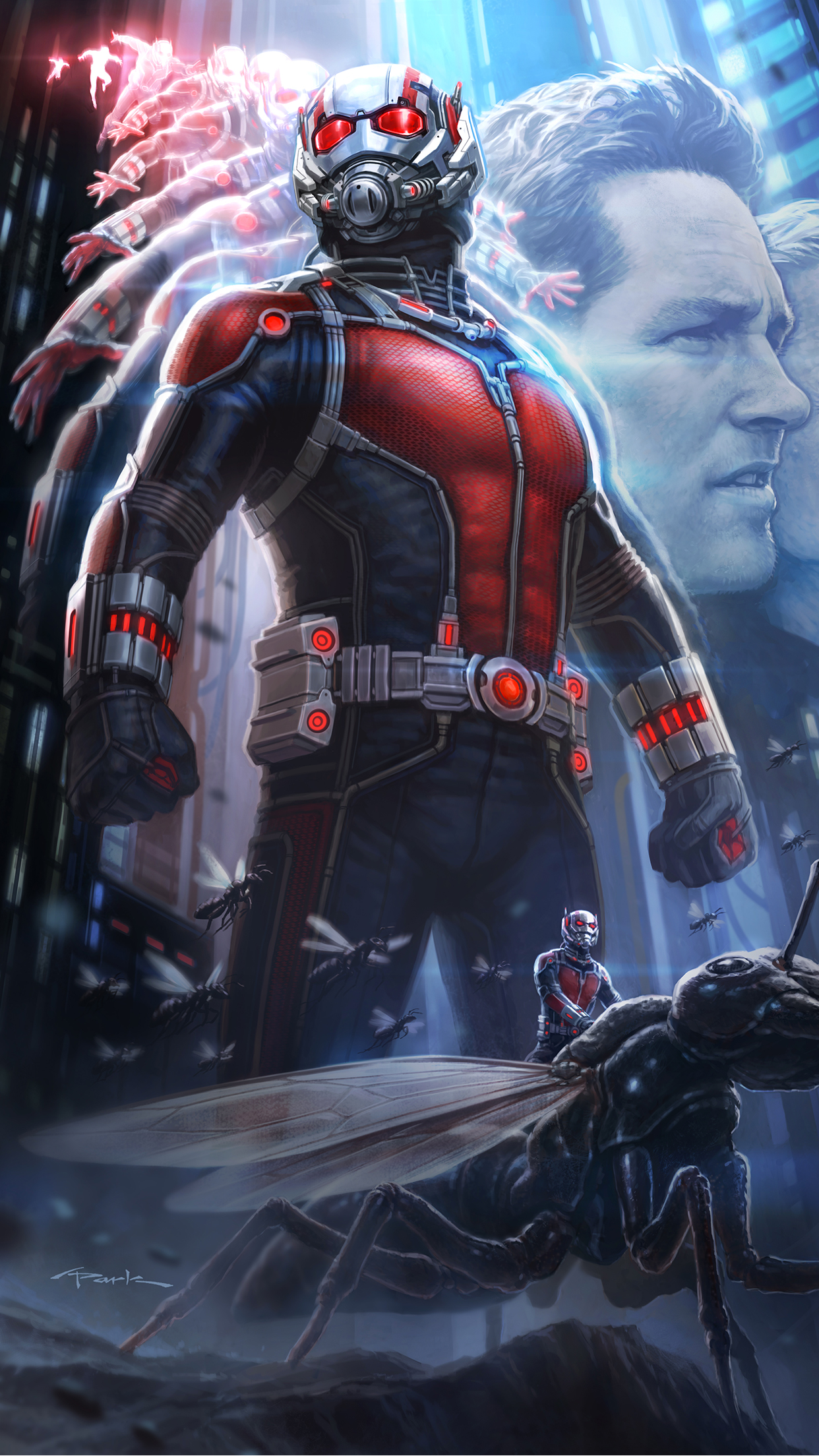 Ant Man Poster iPhone 3Wallpapers Parallax Ant Man Poster