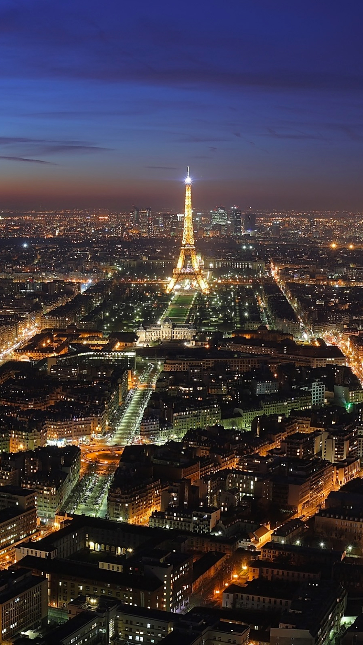 Paris by night city 3Wallpapers iPhone Parallax Paris by night city