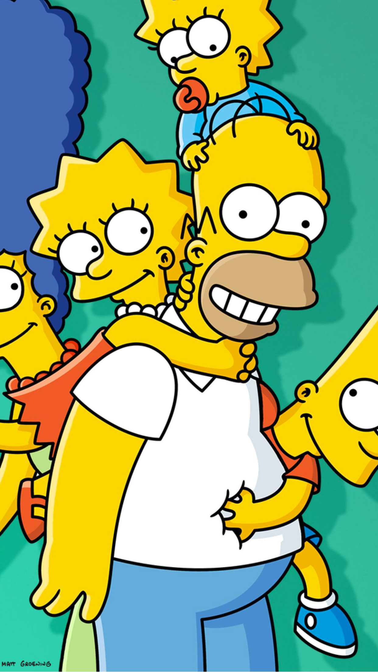 Simpsons Family 3Wallpapers iPhone Parralax Simpsons Family