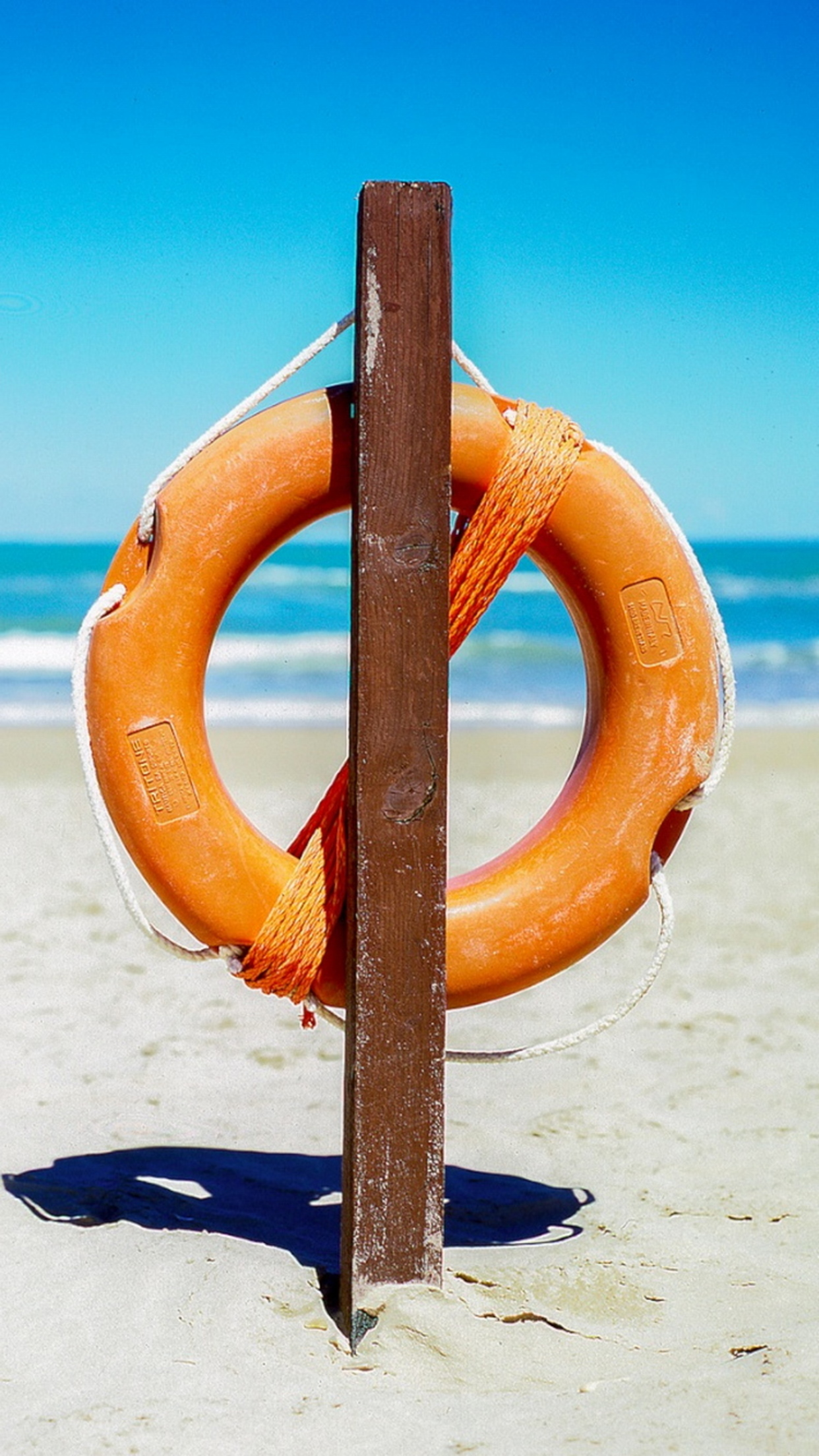 plage bouee 3Wallpapers iPhone Parallax Beach buoy