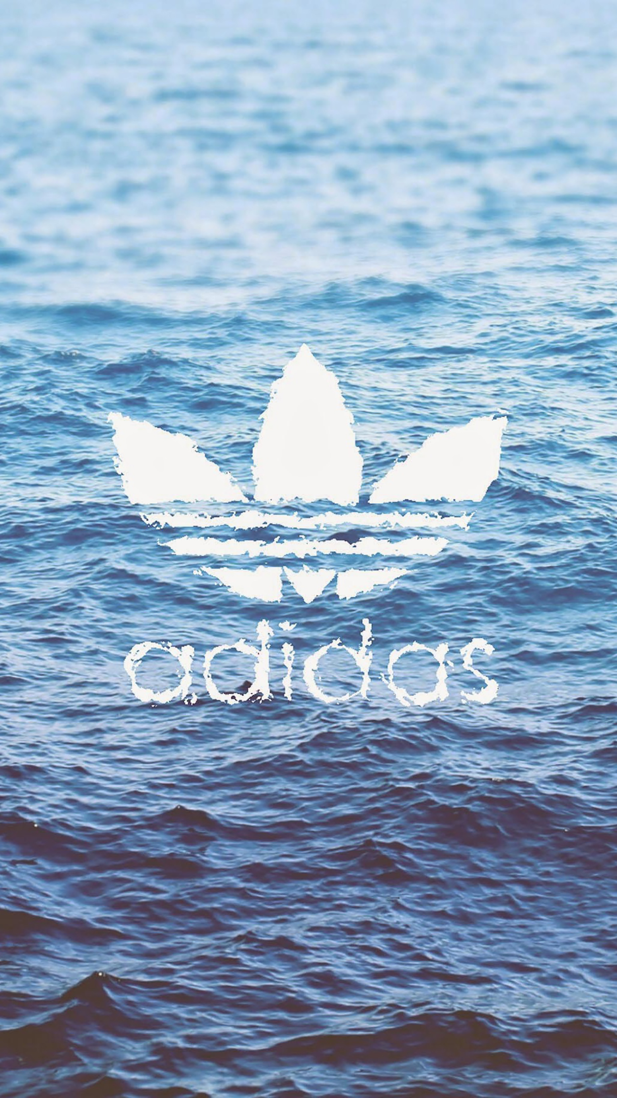 Adidas logo on water 3Wallpapers iPhone Parallax Adidas logo on water