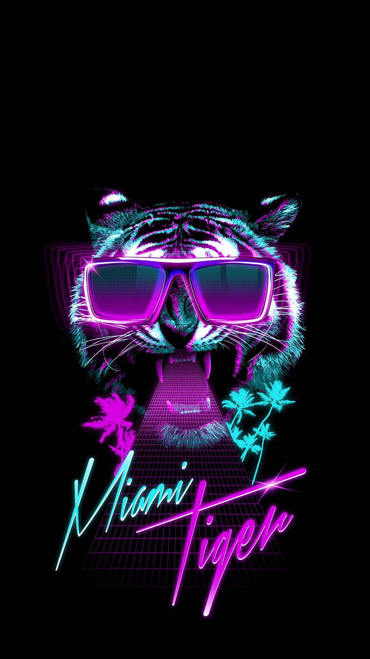 Miami Tiger Wallpaper for iPhone X 8 7 6  Free