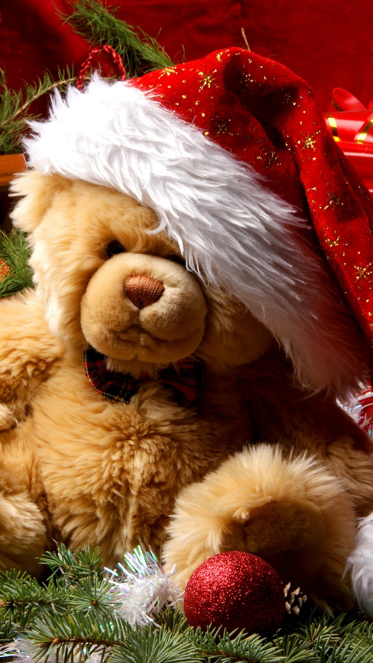 christmas bear 3Wallpapers iPhone Parallax Christmas Bear