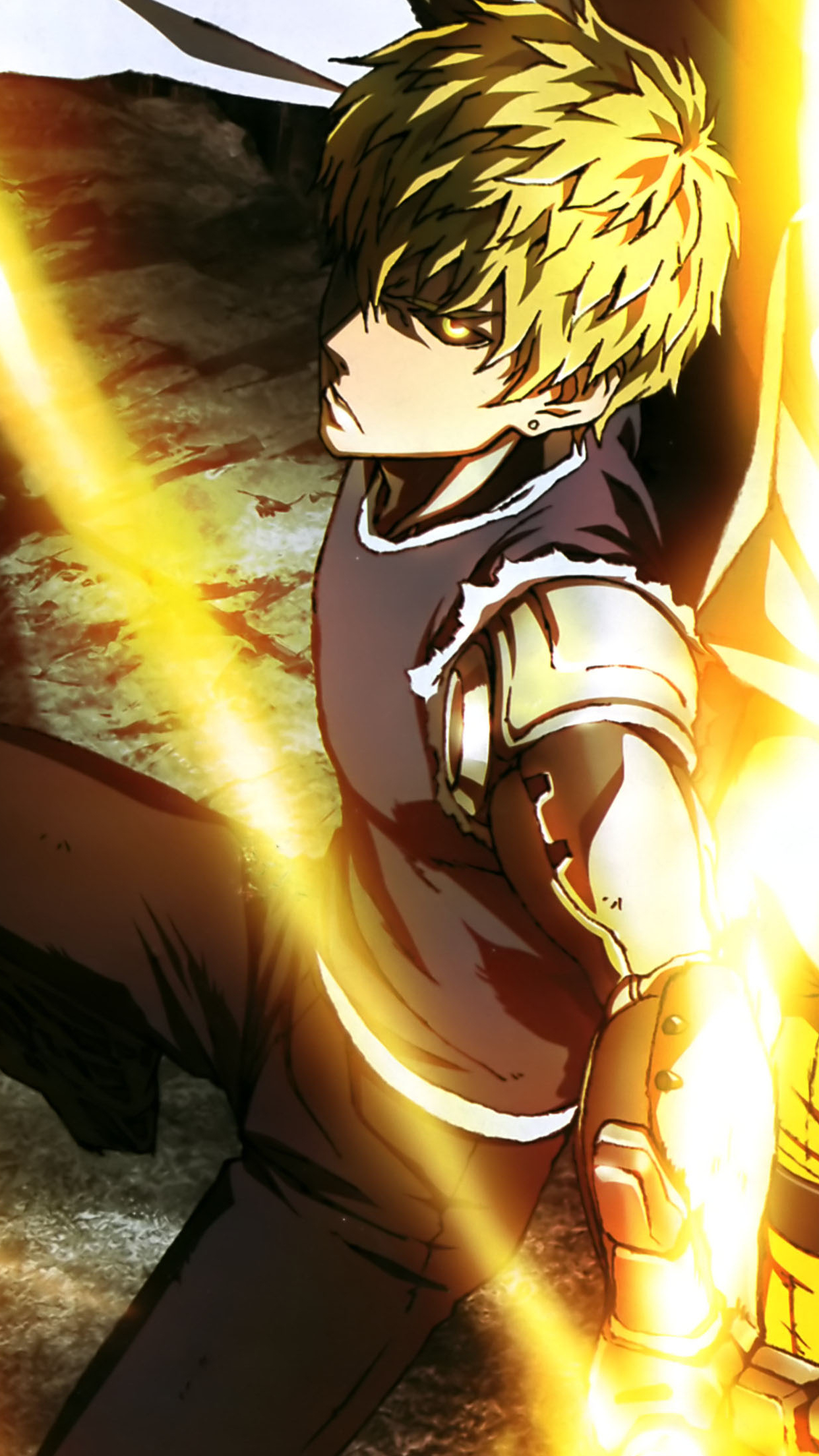one punch man genos 3Wallpapers iPhone Parallax One Punch Man Genos