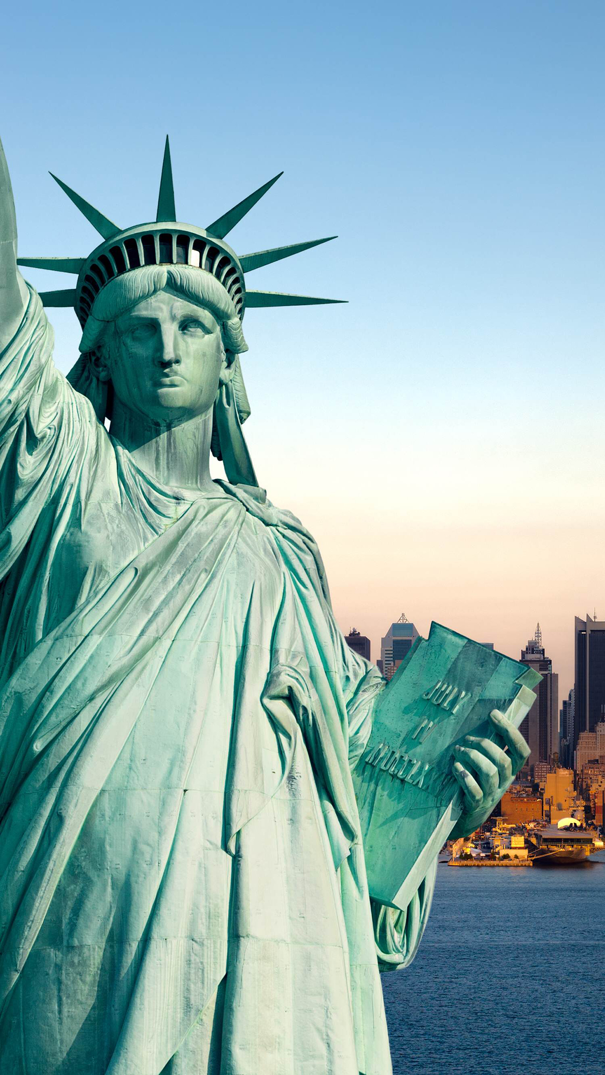 Monuments Liberty Statue 3Wallpapers iPhone Parallax Monuments Liberty Statue