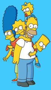The Simpsons The Simpsons Family 3wallpapers iPhone Parallax 169x300 The Simpson family