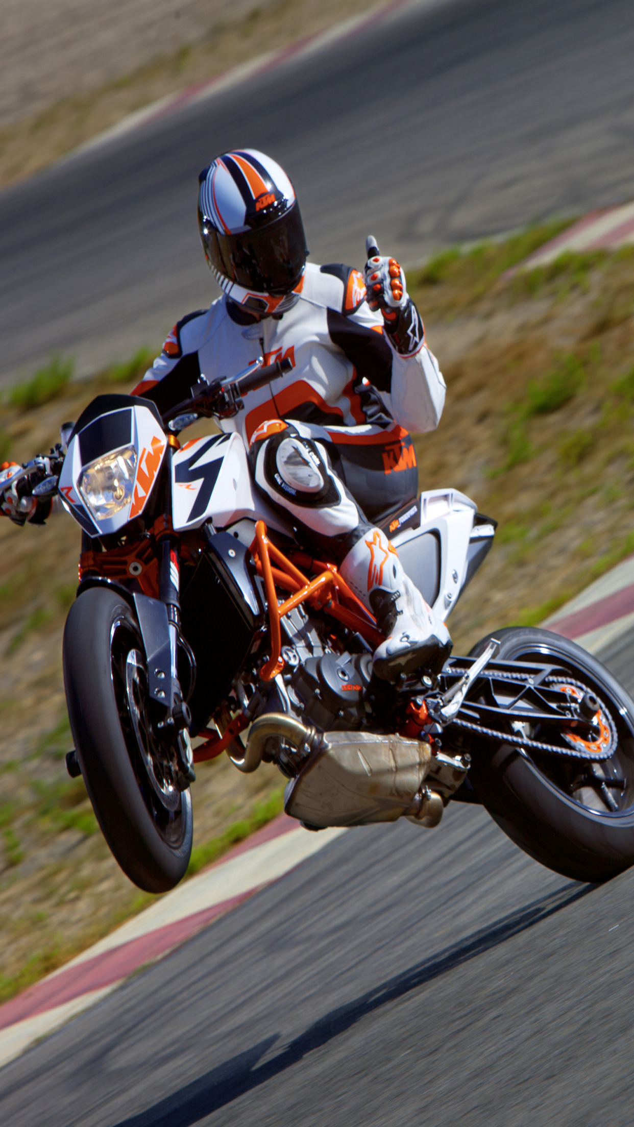 Supermoto Girl Wallpaper Ktm 690 Smc R 1 Wallpaper For Iphone X 8 7 6 Free