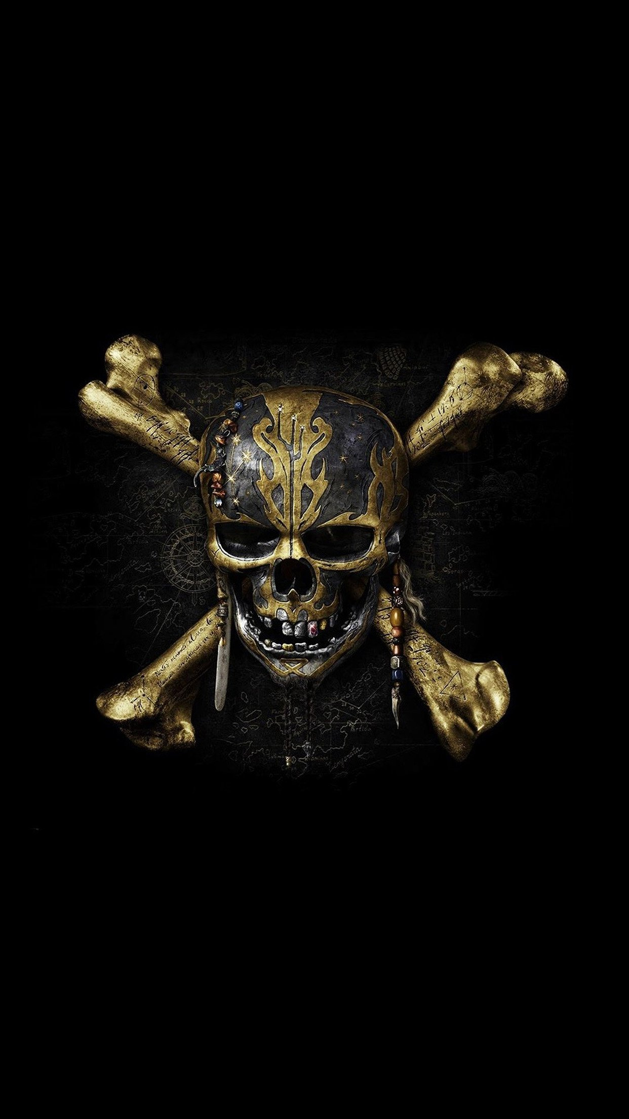 Skull Pirates dark 3Wallpapers iPhone Parallax Skull: Pirates dark