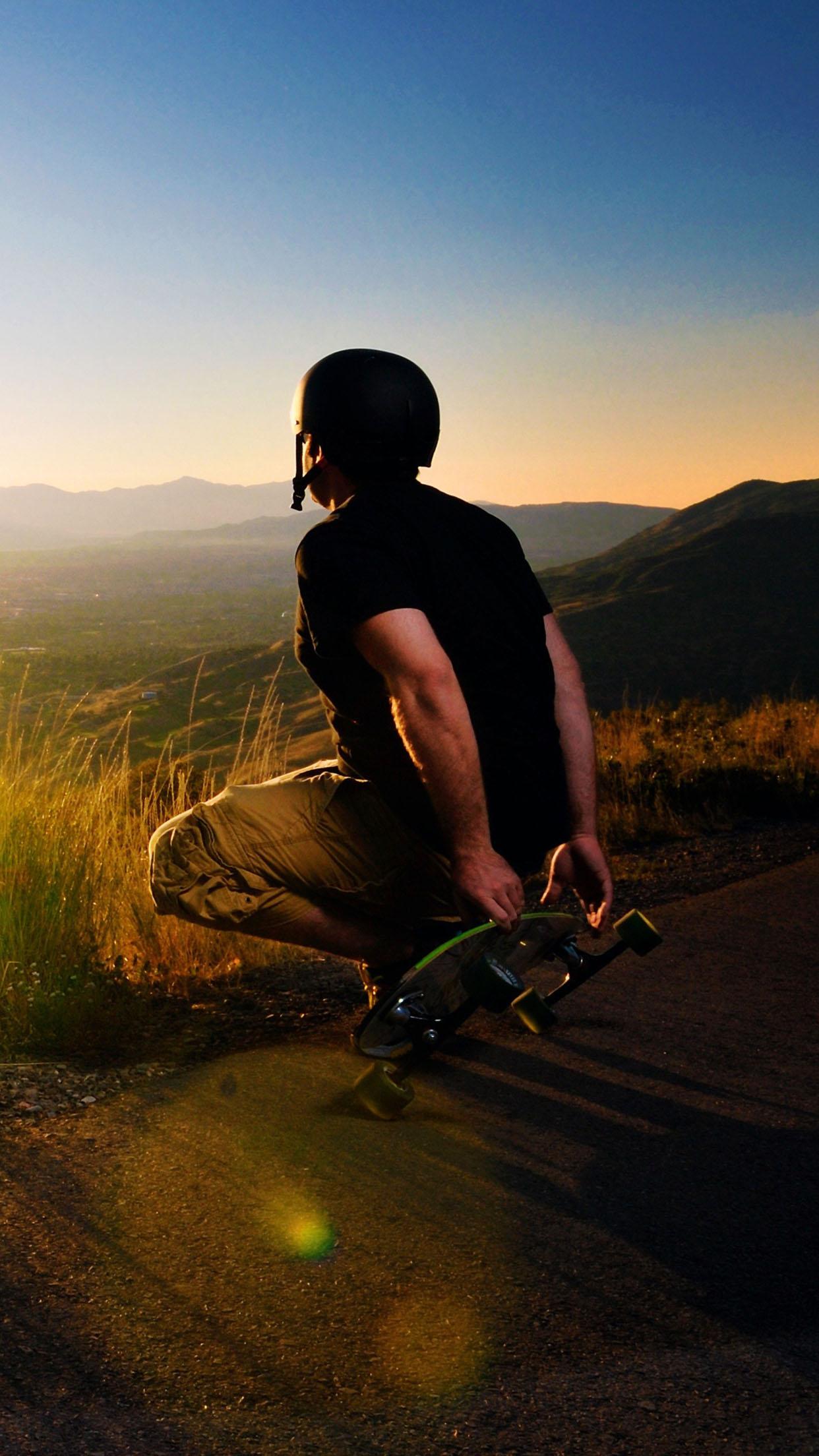 Skateboard Longboarder 3Wallpapers iPhone Parallax Skateboard: Longboarder