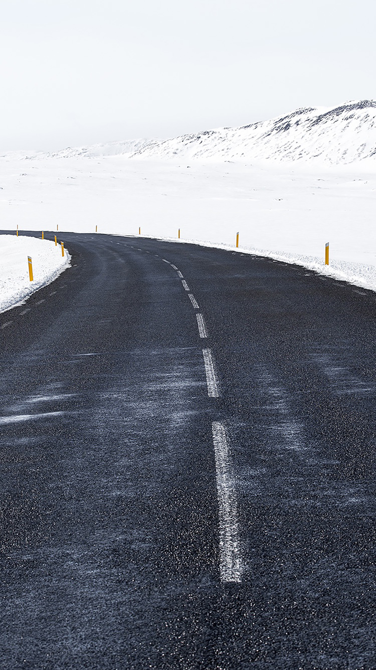 Snow Road White Winter 3Wallpapers iPhone Parallax Snow Road : White Winter