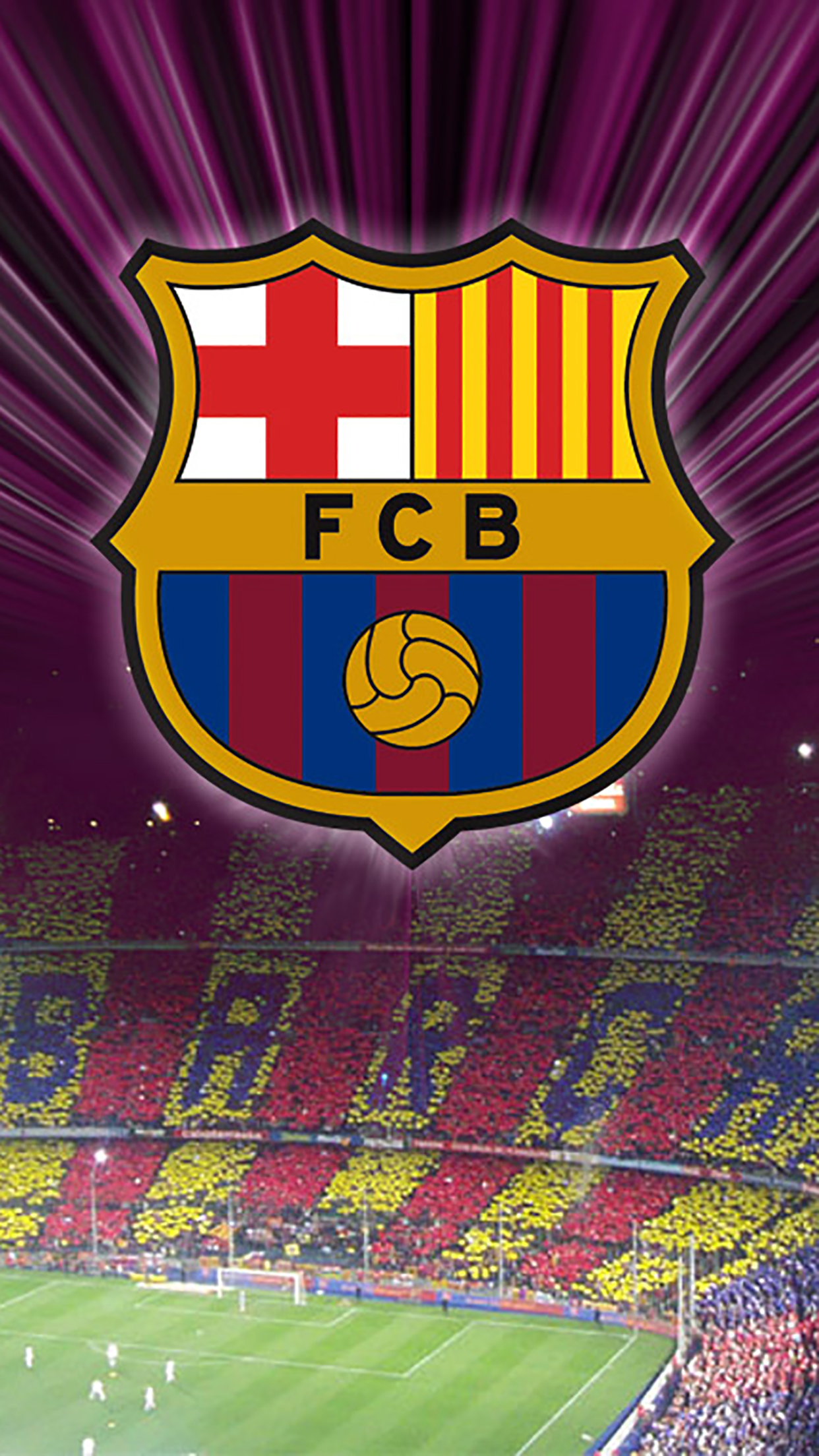 FC Barcelone Logo 3 3Wallpapers iPhone Parallax FC Barcelone : Logo 3
