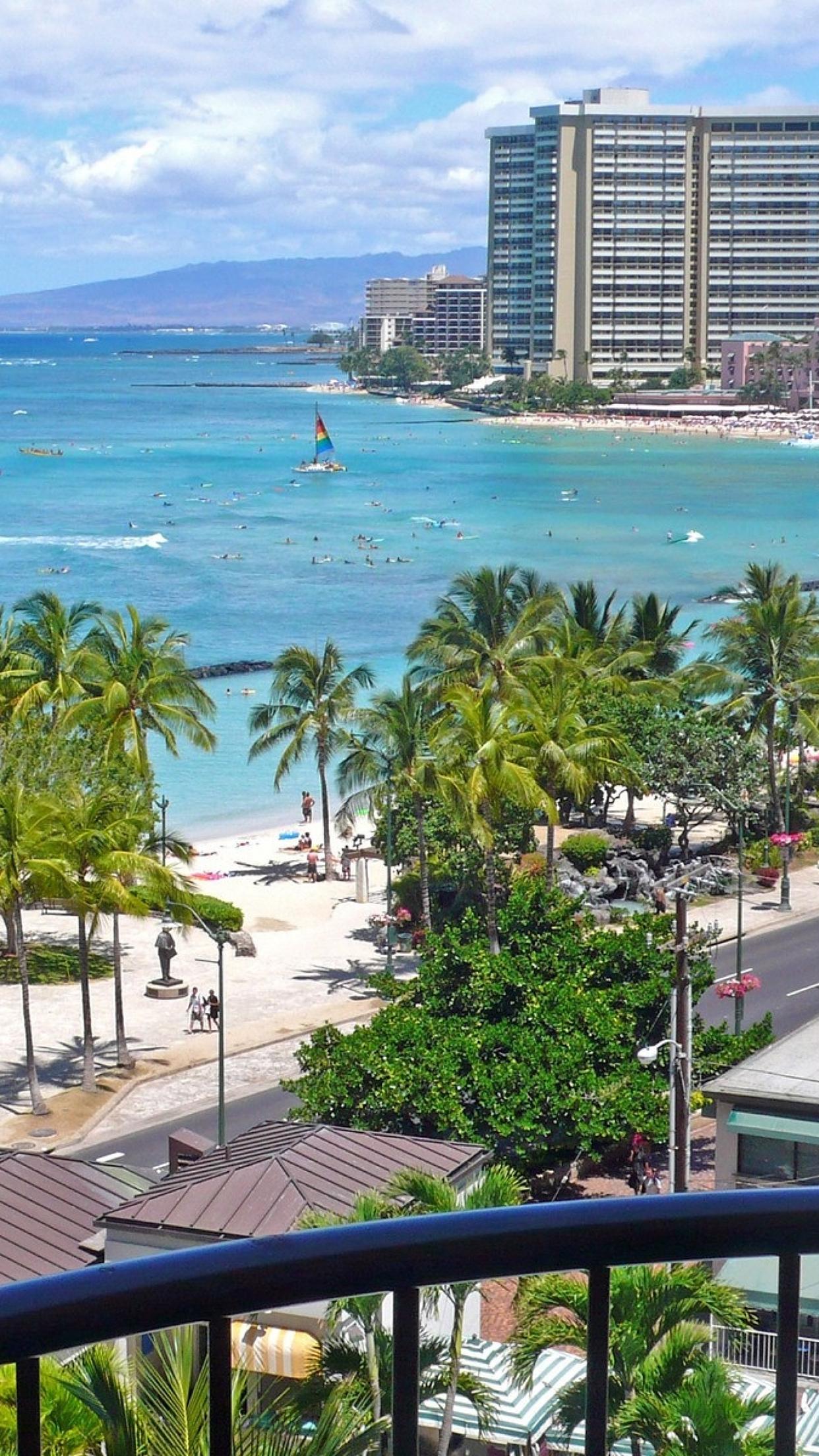 Hawaii Beach 3Wallpapers iPhone Parallax Hawaii : Beach