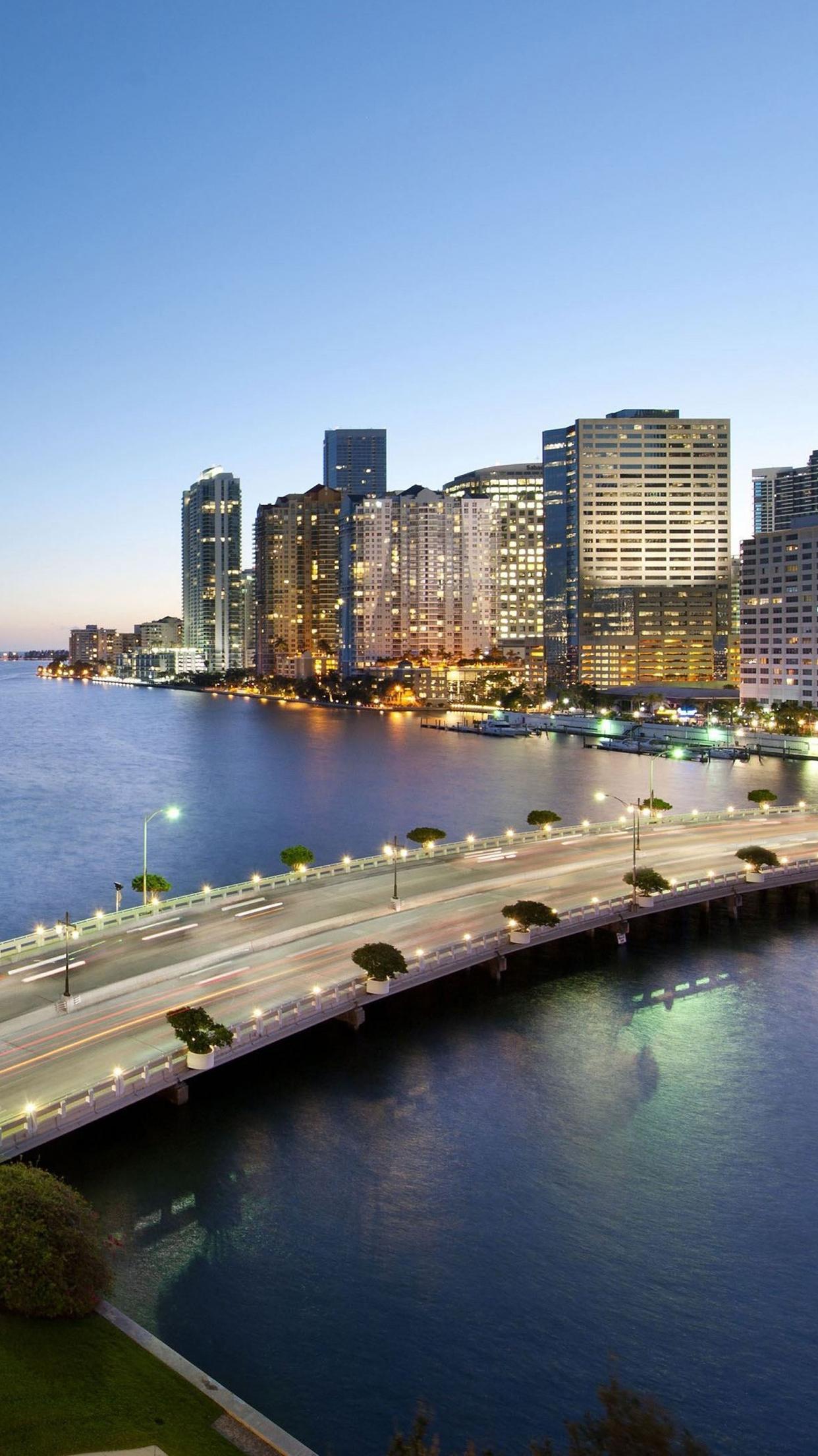 Miami Florida Bridge 3Wallpapers iPhone Parallax Miami Florida : Bridge