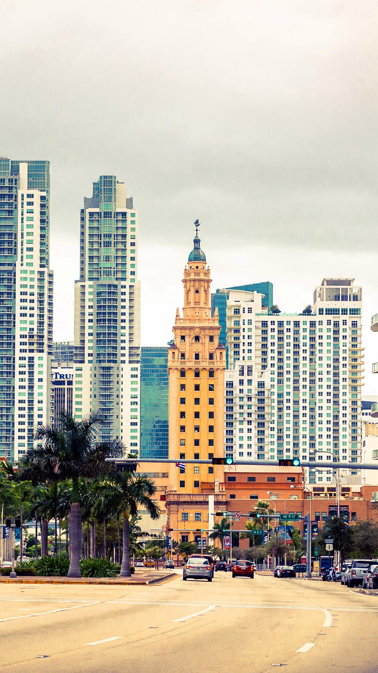 Miami Florida Street 3Wallpapers iPhone Parallax Miami Florida : Street