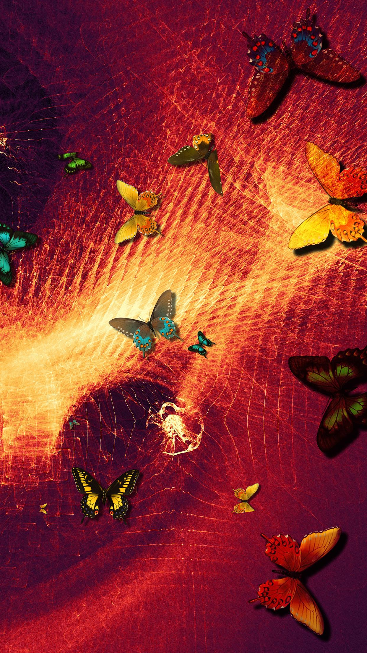Butterflies Art 3Wallpapers iPhone Parallax Butterflies : Art