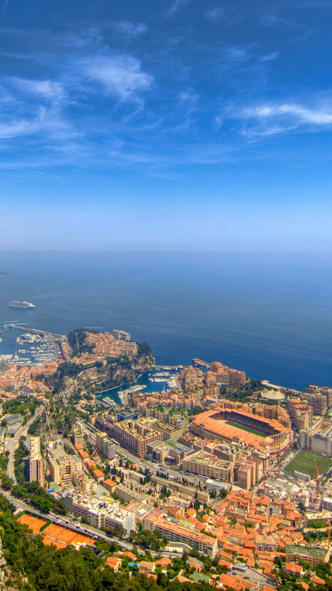 iphone wallpaper monaco monte carlo sky sea space landscape skyline harbor nature Monte Carlo