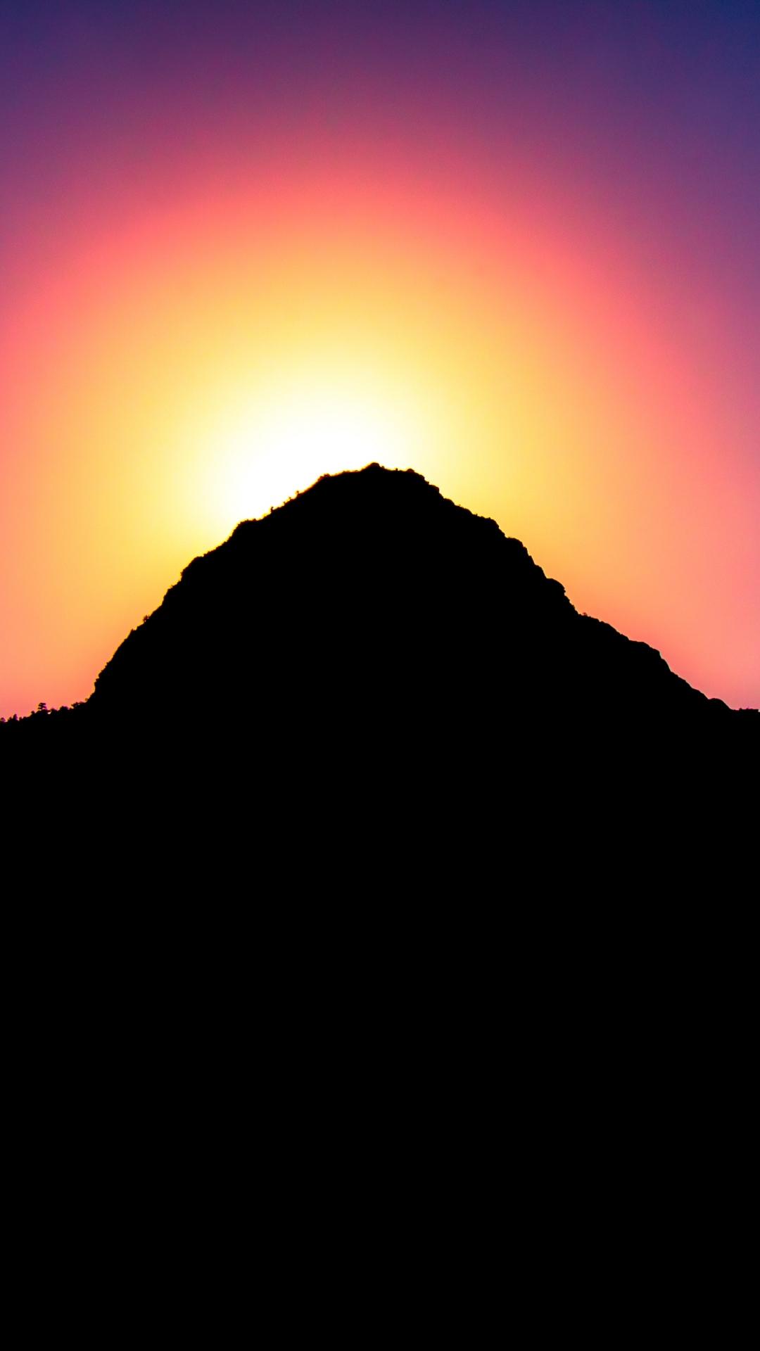 mountains sunset light sky 117150 1080x1920 Mountain