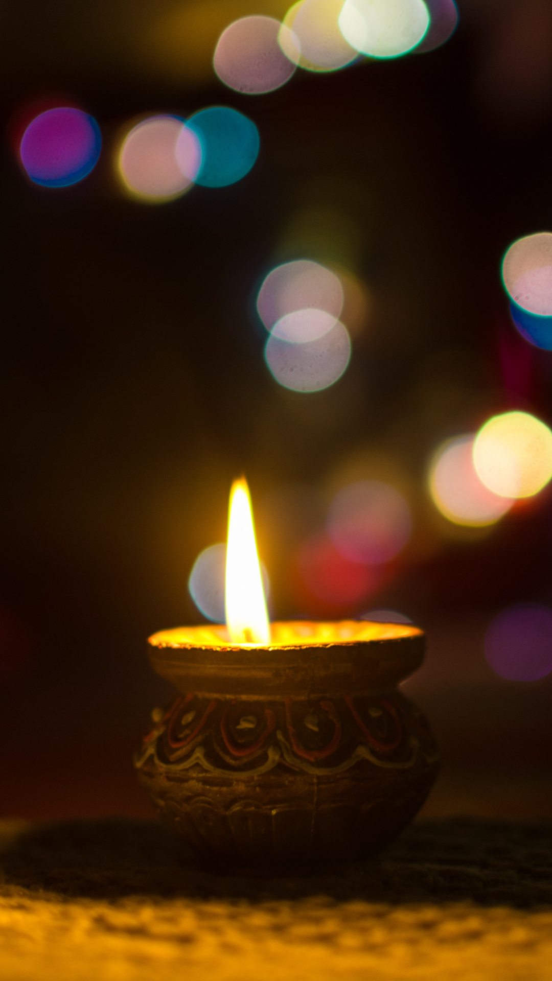 iphone wallpaper candle glare Candle