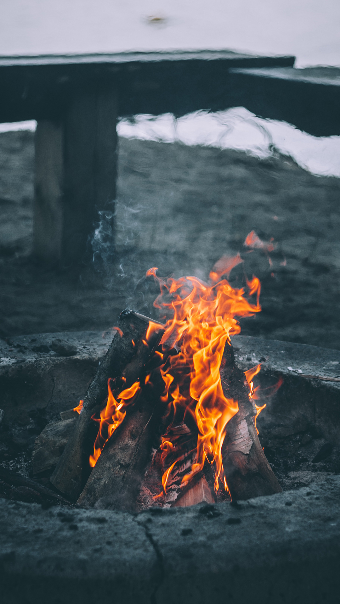 Aesthetic Wallpaper Iphone Campfire Wallpaper For Iphone X 8 7 6 Free Download