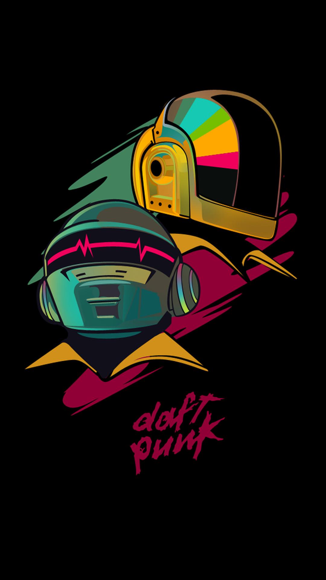 iPhone wallpaper daft punk colors Daft Punk