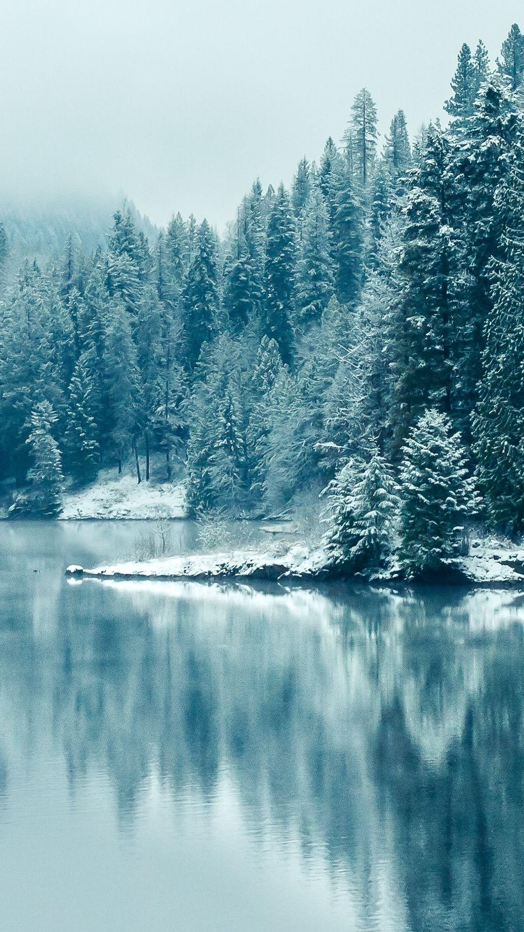 iPhone wallpaper frozen lake Lake