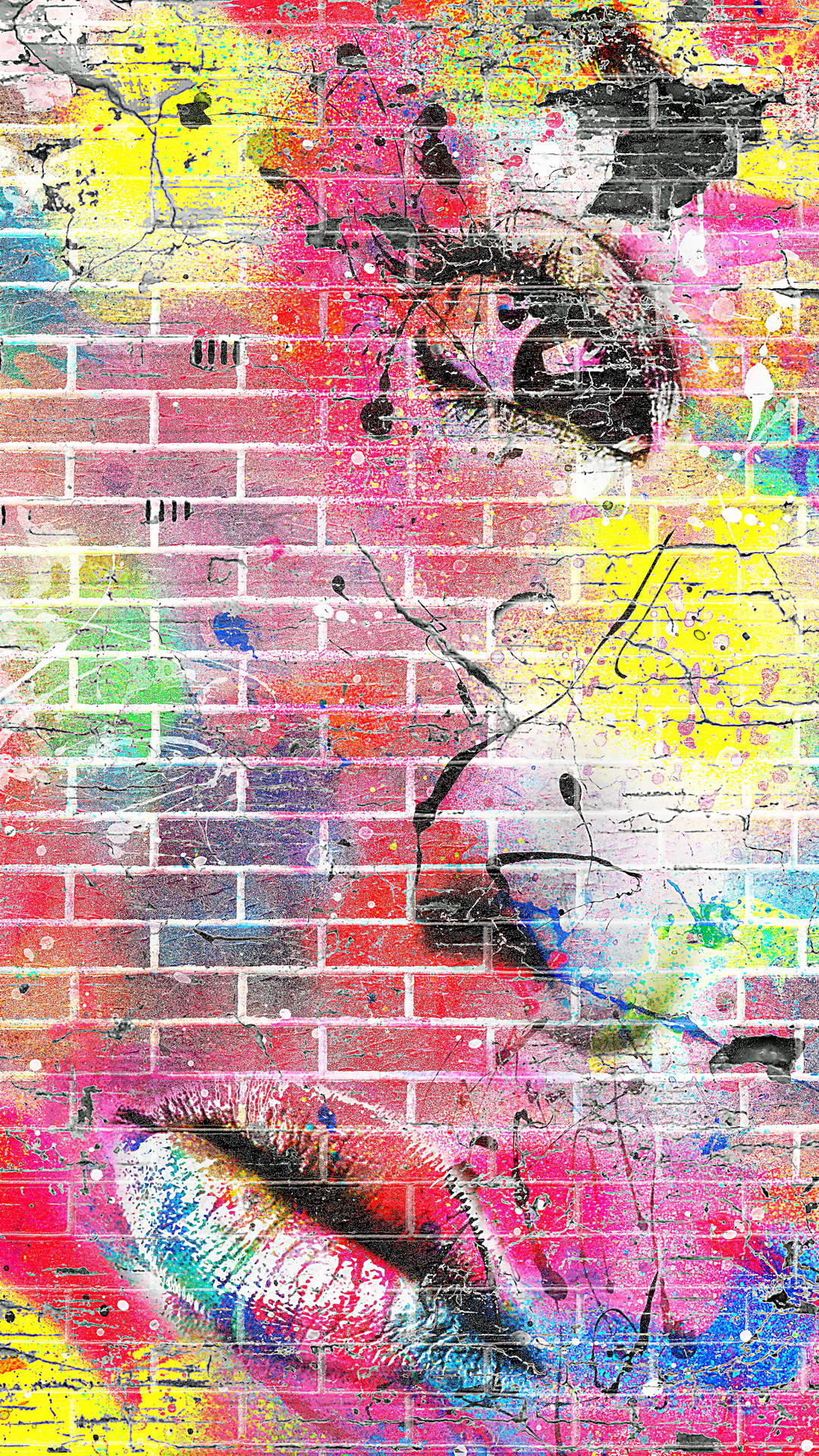 iPhone wallpaper graffiti wall Graffiti