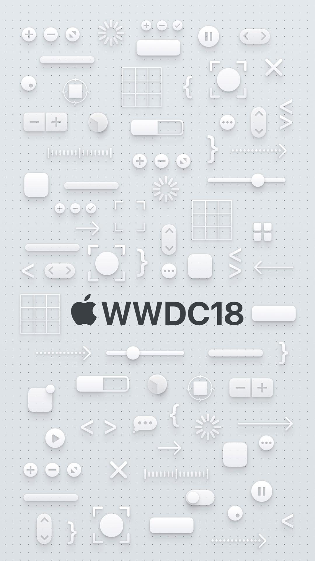 iPhone wallpaper wwdc icons white WWDC18