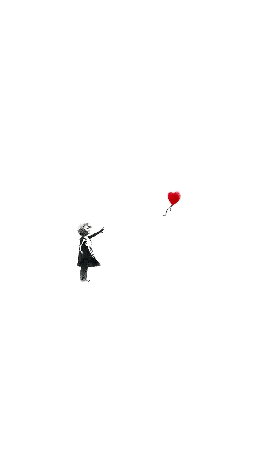 iPhone wallpaper banksy girl of hope Banksy