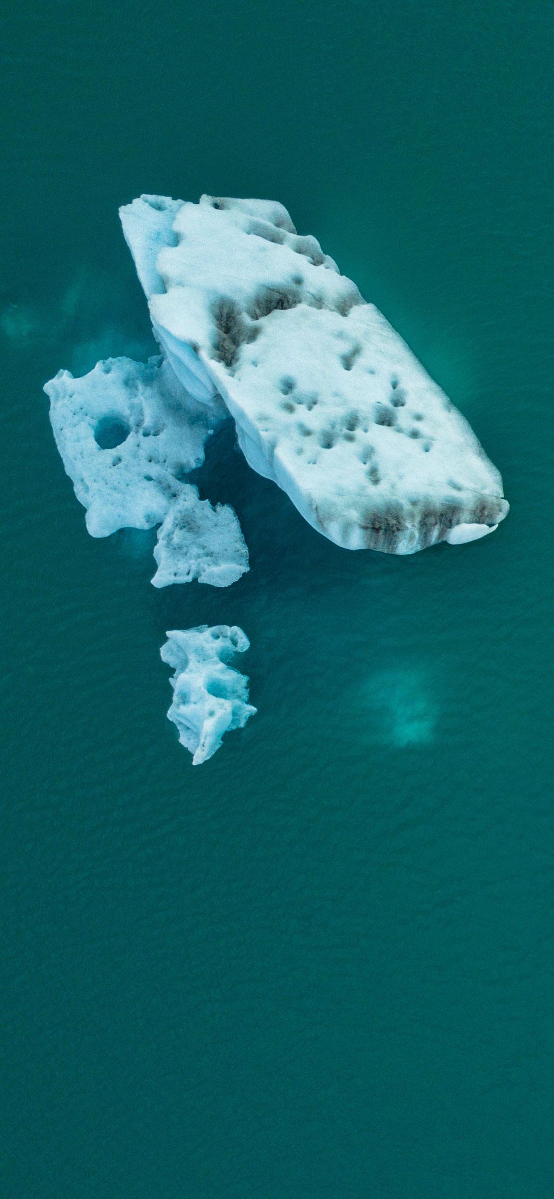 iPhone wallpaper iceberg green Iceberg