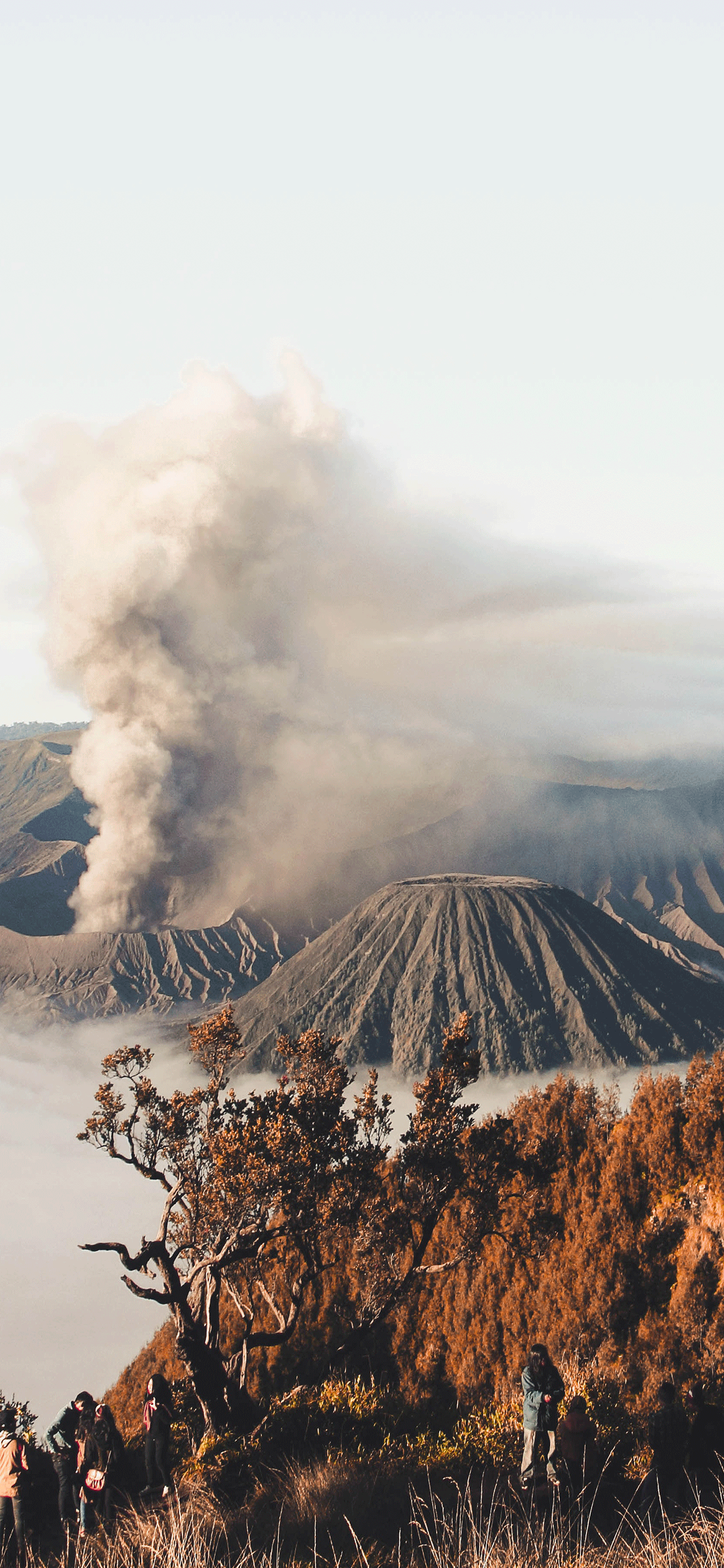 iPhone wallpaper volcano mount bromo Volcano