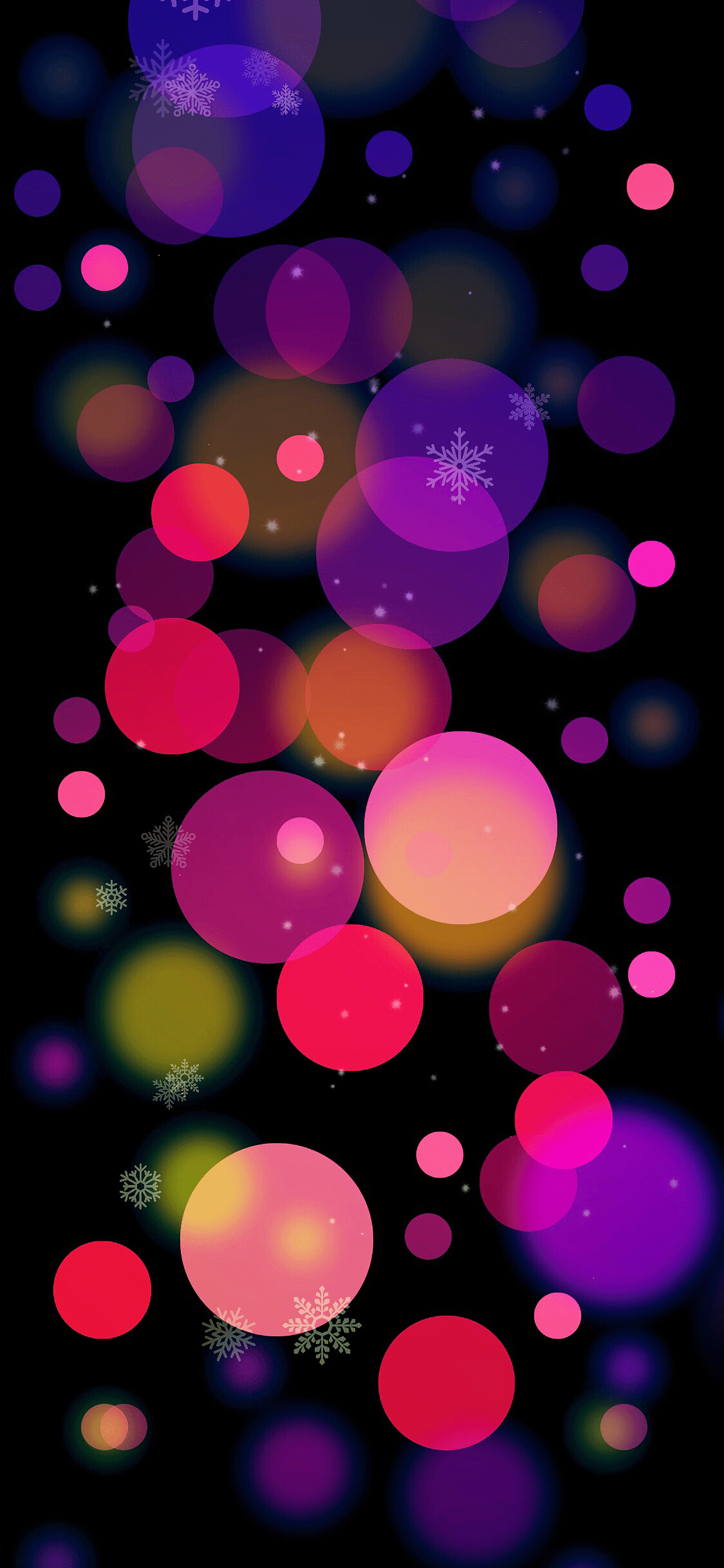 iPhone wallpaper christmas colors balls Christmas