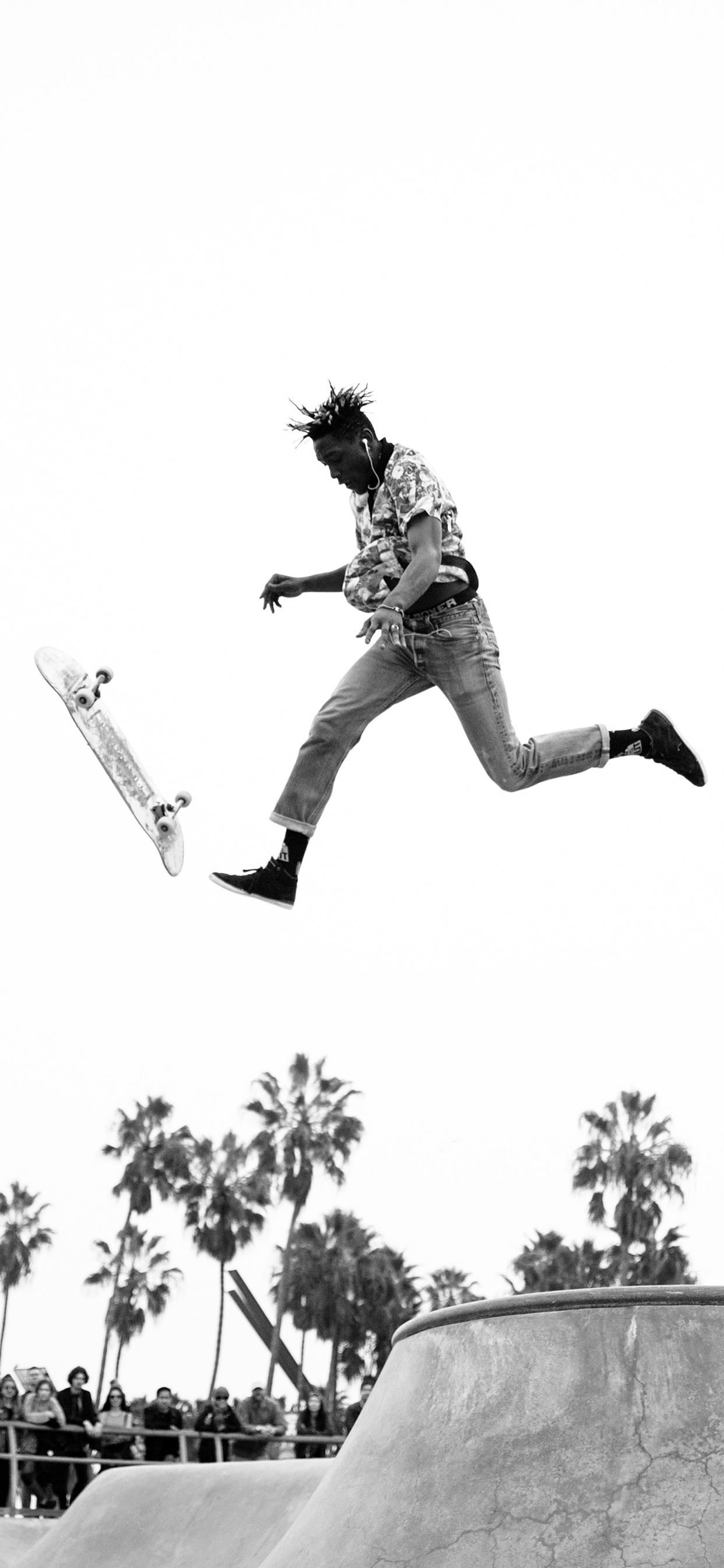 iPhone wallpaper skater black white Skater