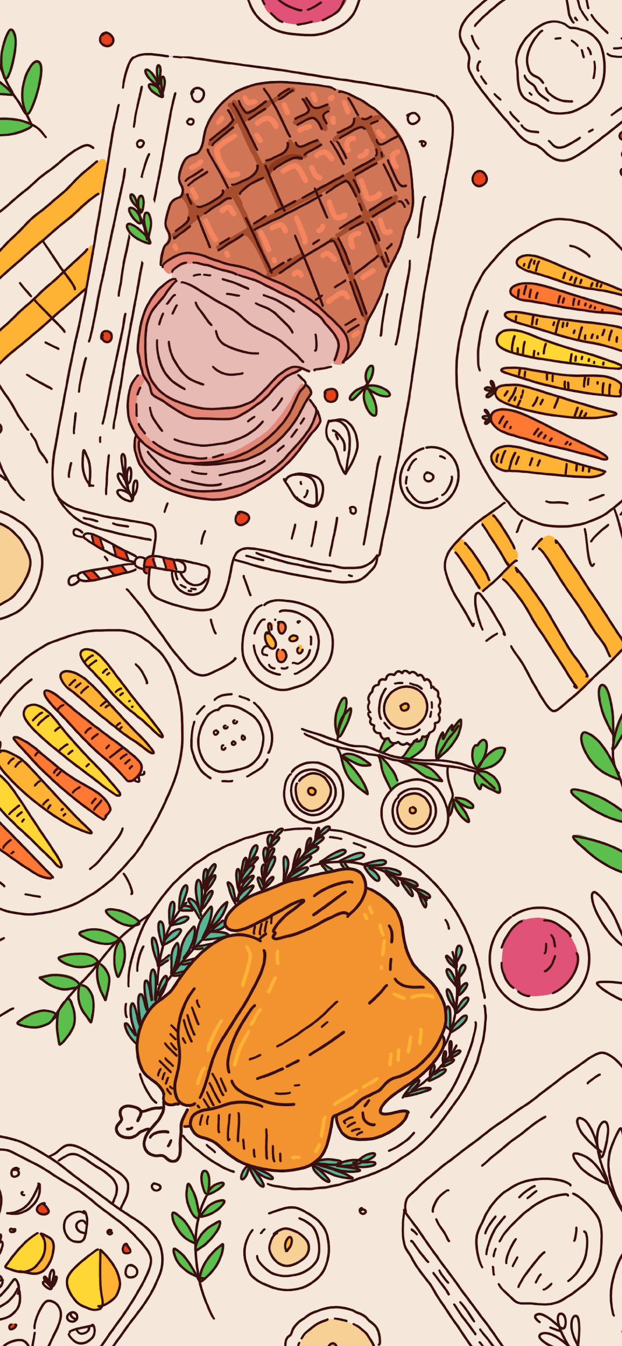 iPhone wallpaper food christmas Illustration