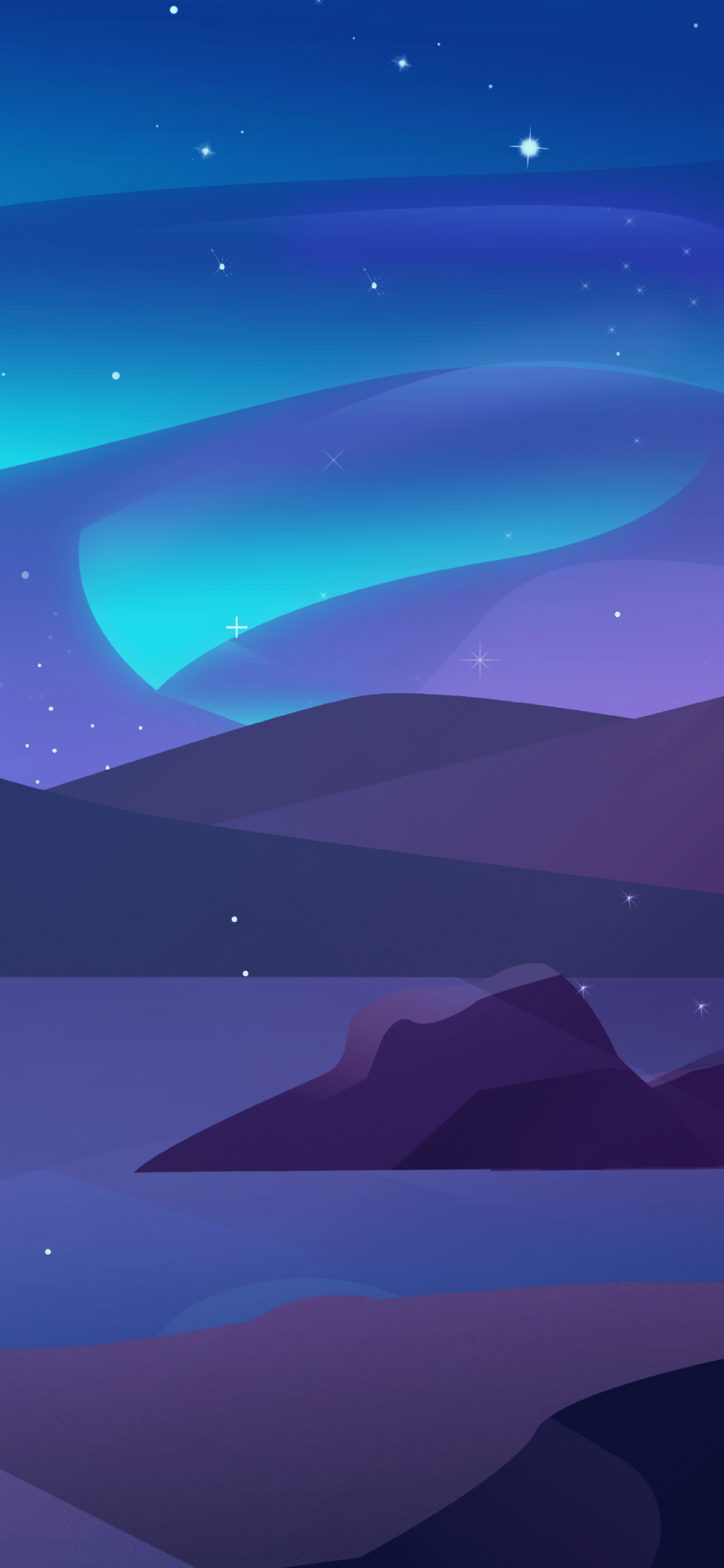 iPhone wallpapers illustration starry night Illustration
