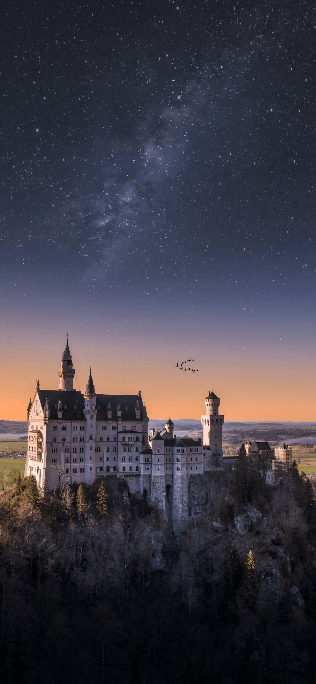 iPhone wallpapers stars neuschwanstein Stars