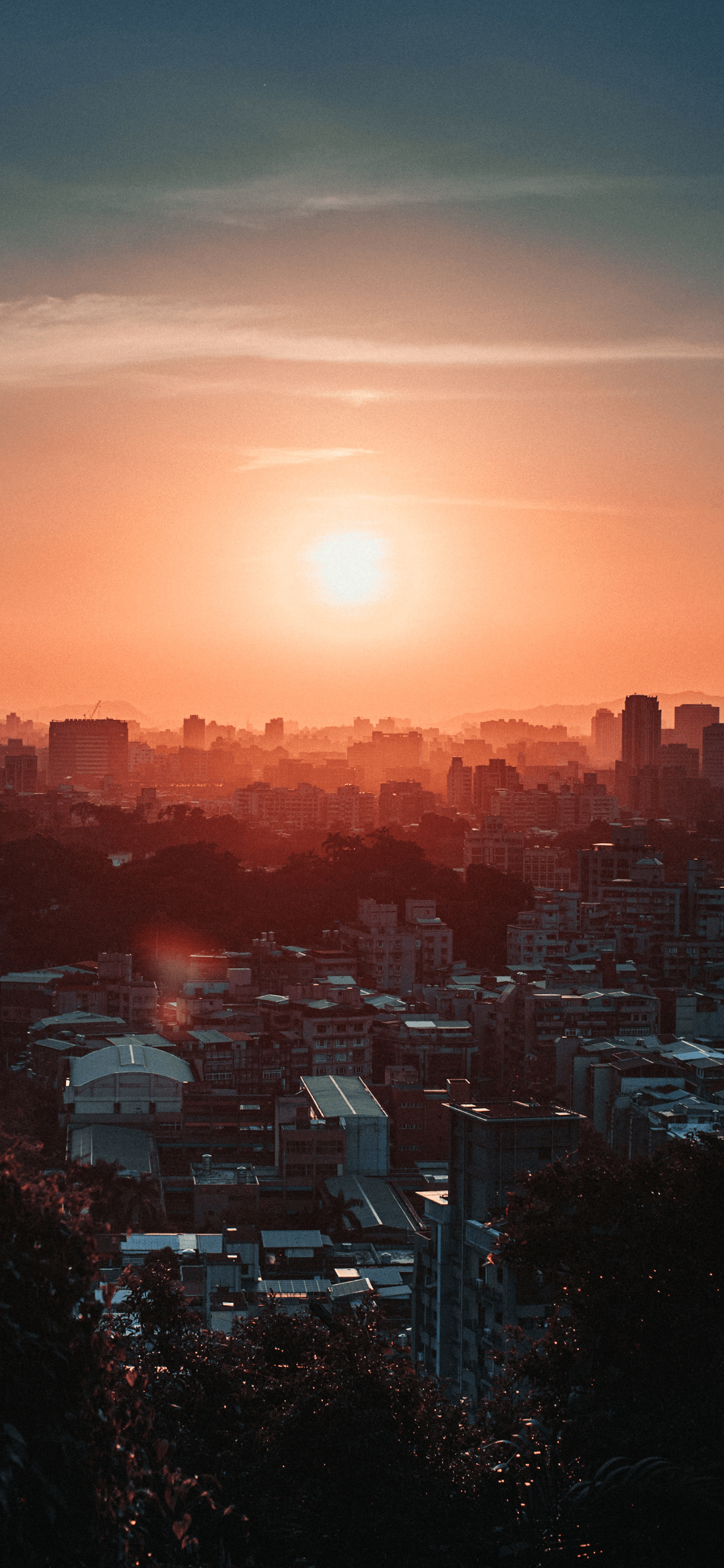 iPhone wallpapers sunset city buildings Sunset