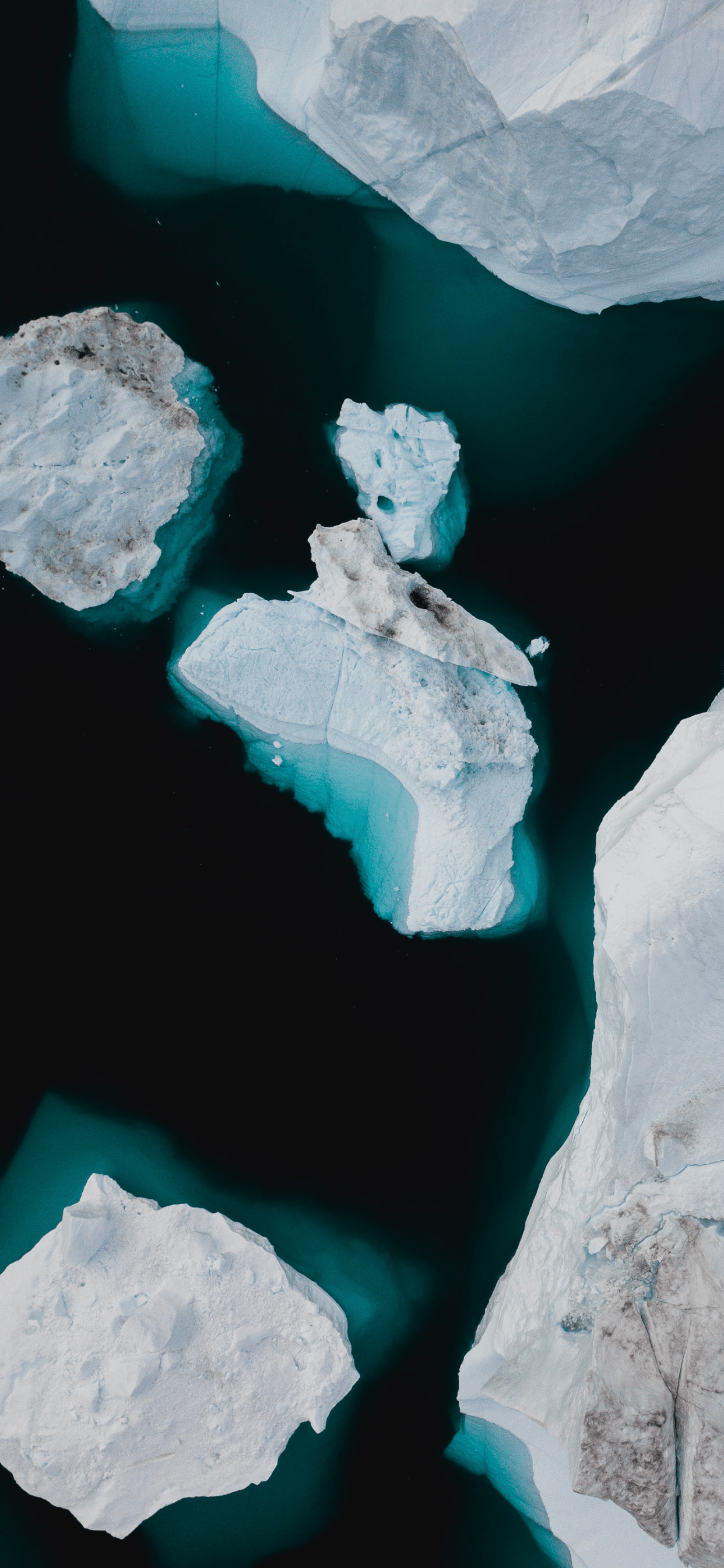 iPhone wallpapers icebergs aerial Icebergs