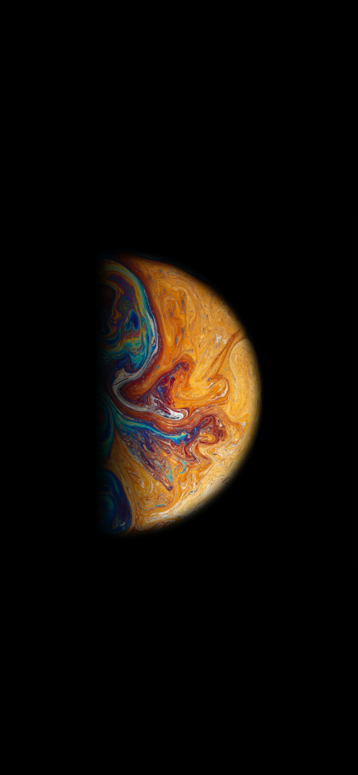 iPhone wallpapers liquid planet yellow Abstract