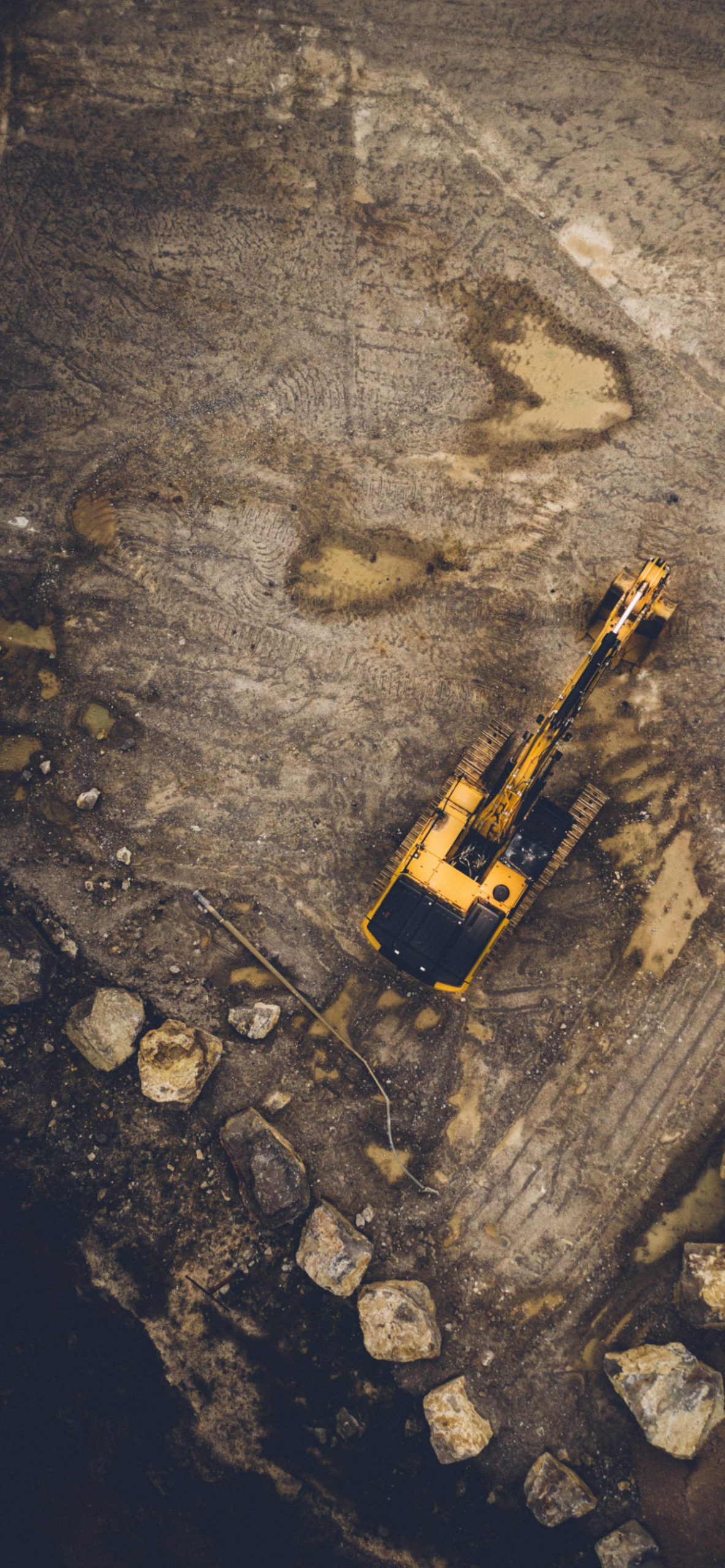 iPhone wallpapers aerial view excavator scaled Aerial View