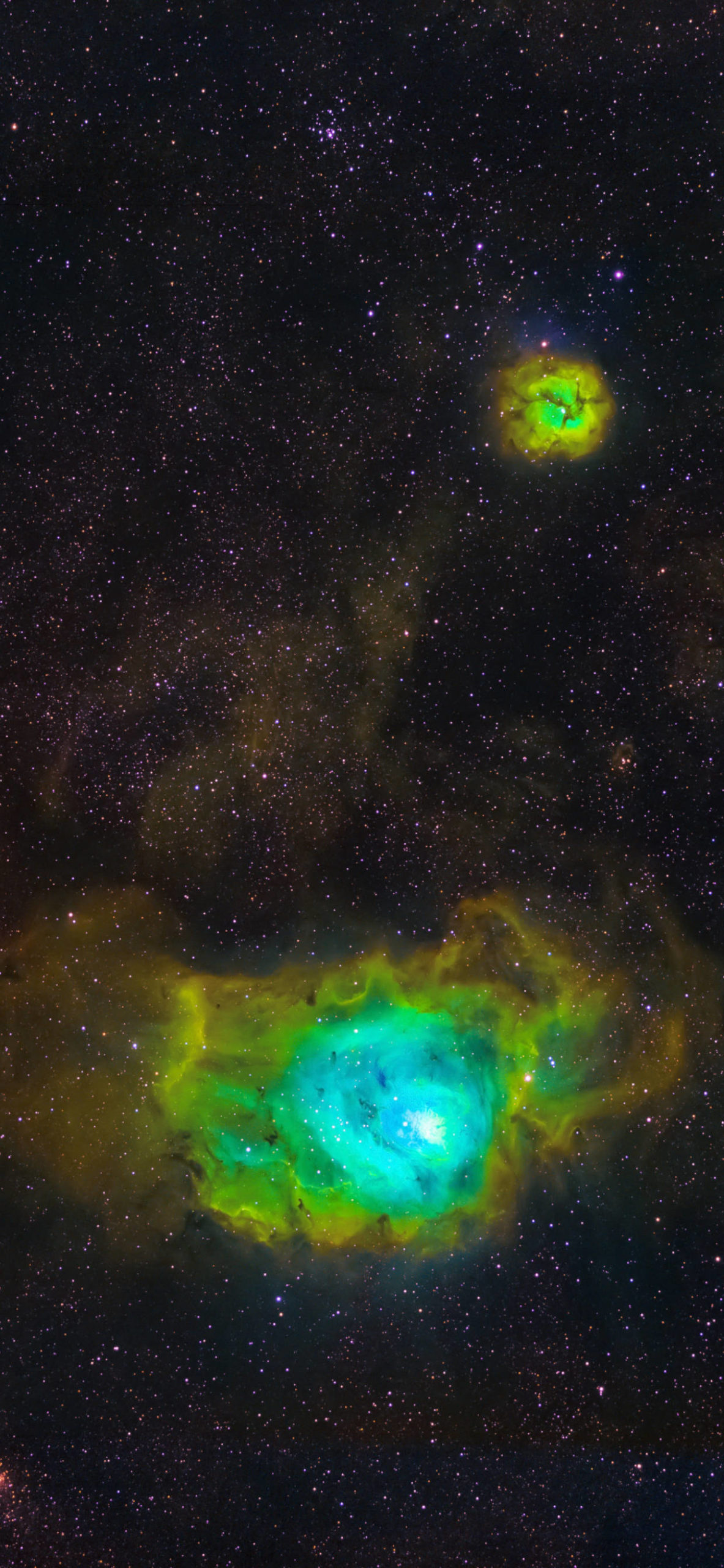 iPhone wallpapers space green scaled Space