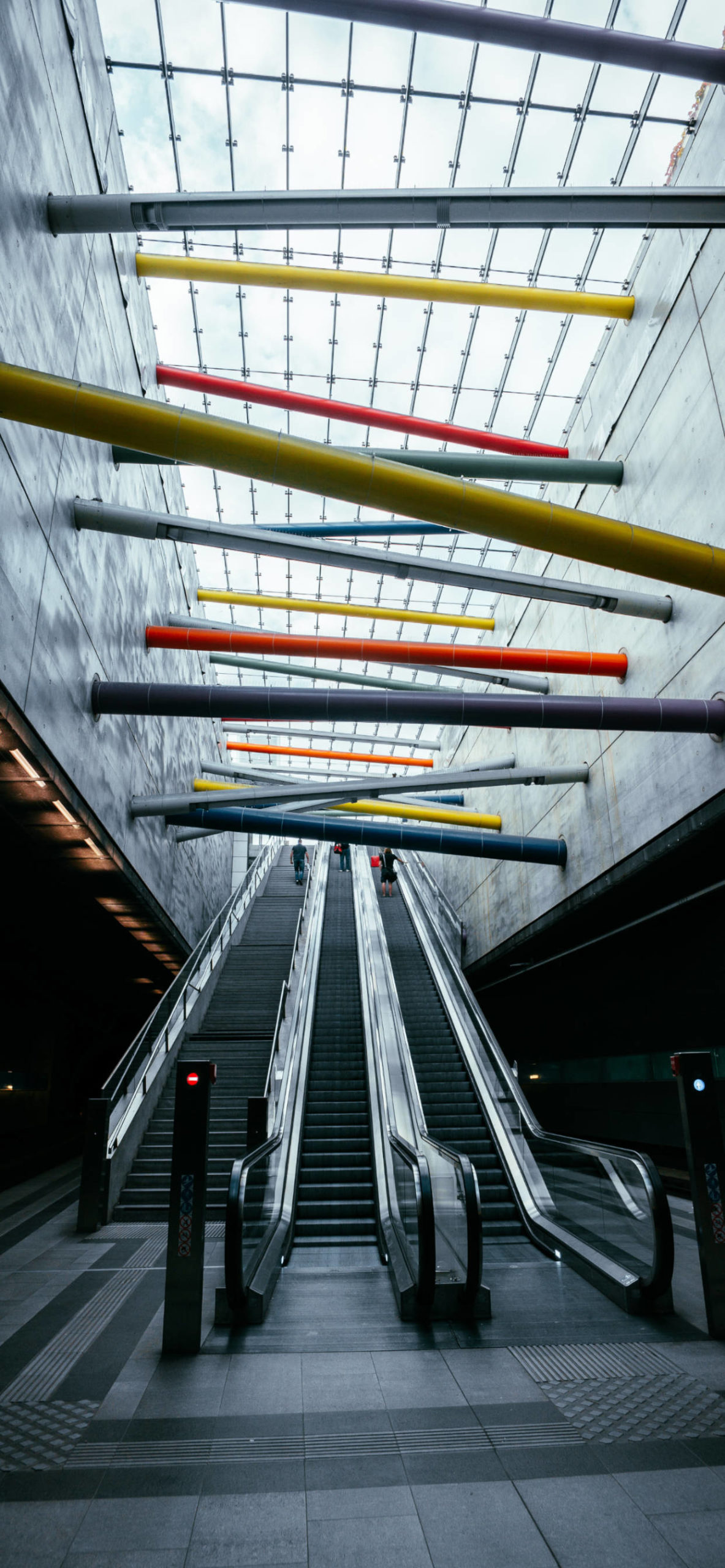 iPhone wallpapers architecture stairs tubes colors scaled Architecture