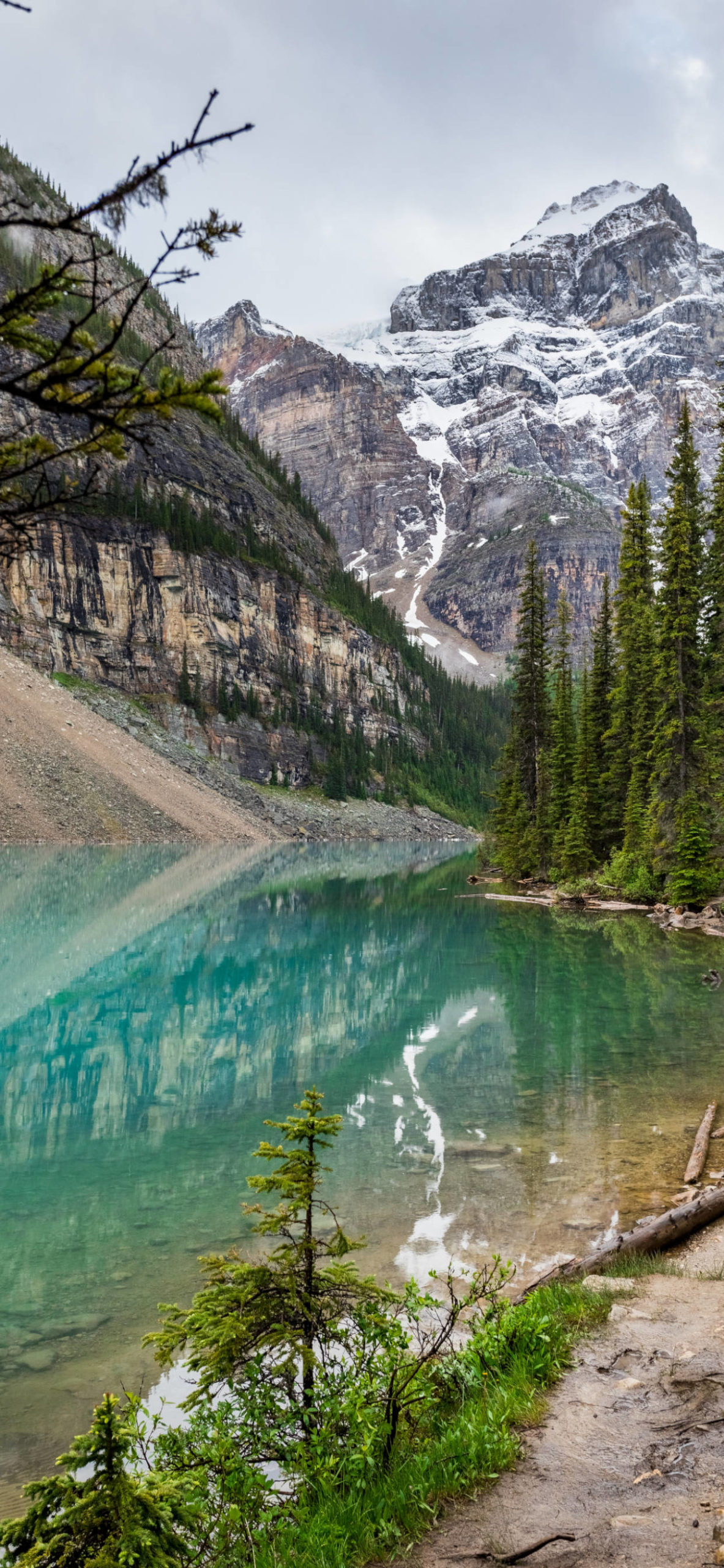 iPhone wallpapers lake moraine scaled Lake