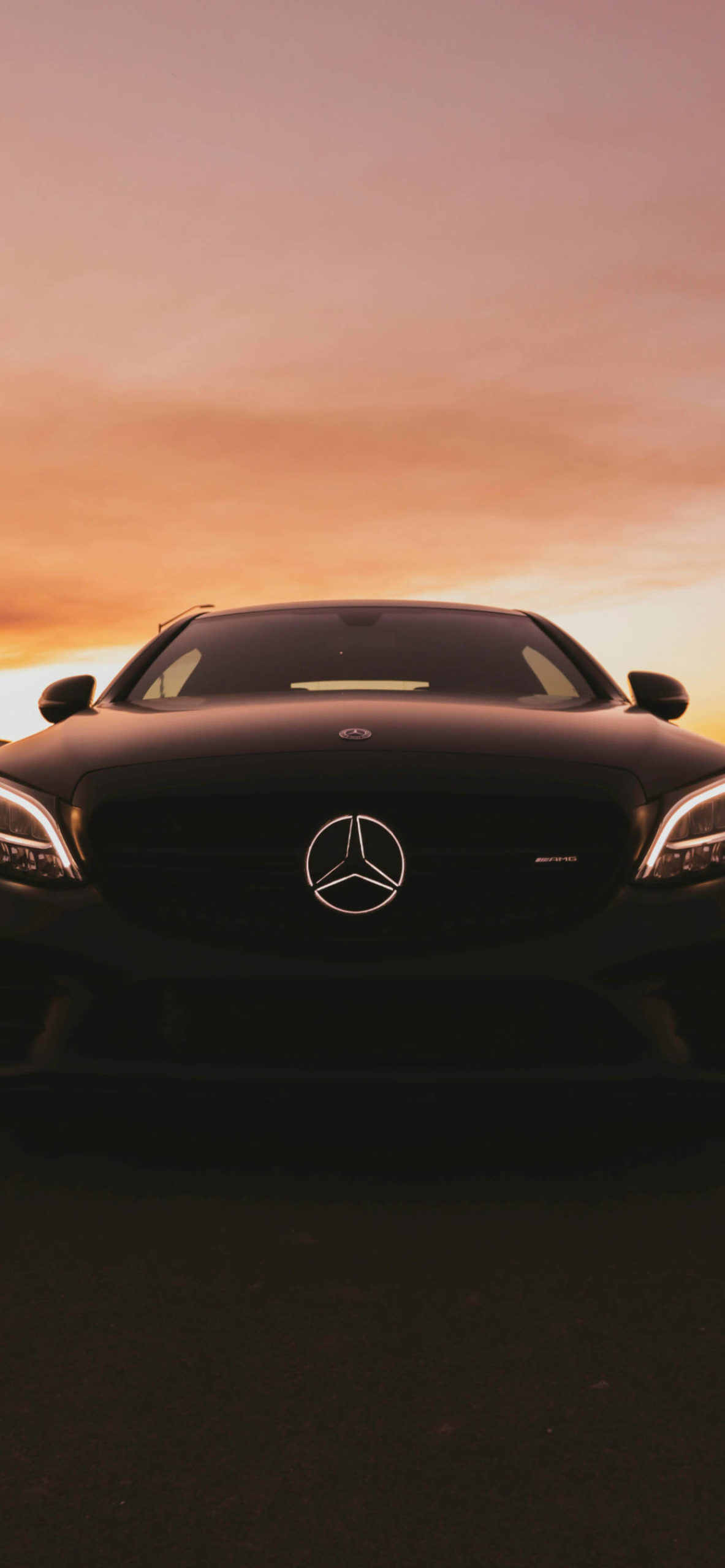 iPhone wallpapers mercedes benz sunset scaled Mercedes Benz