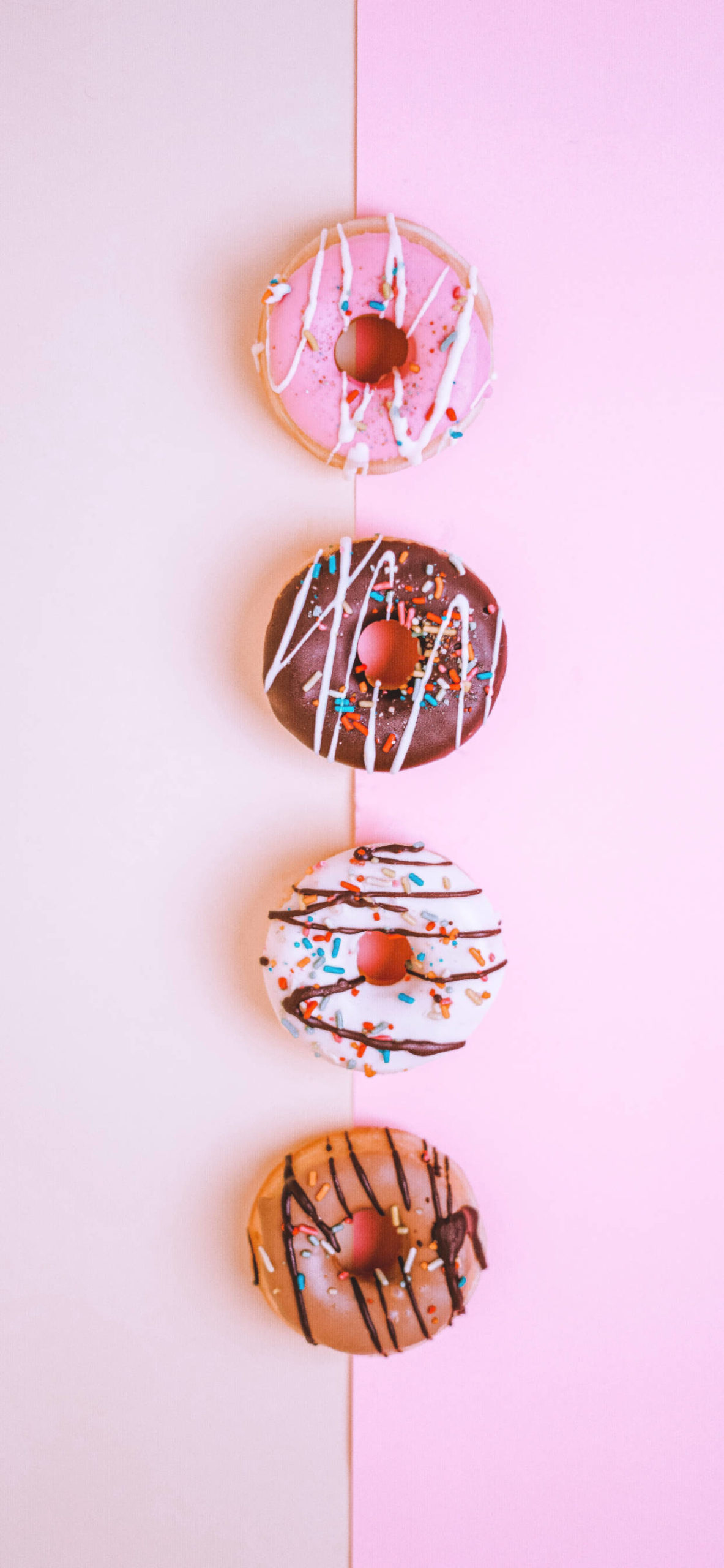 iPhone wallpapers donut pink choco white brown scaled Donut