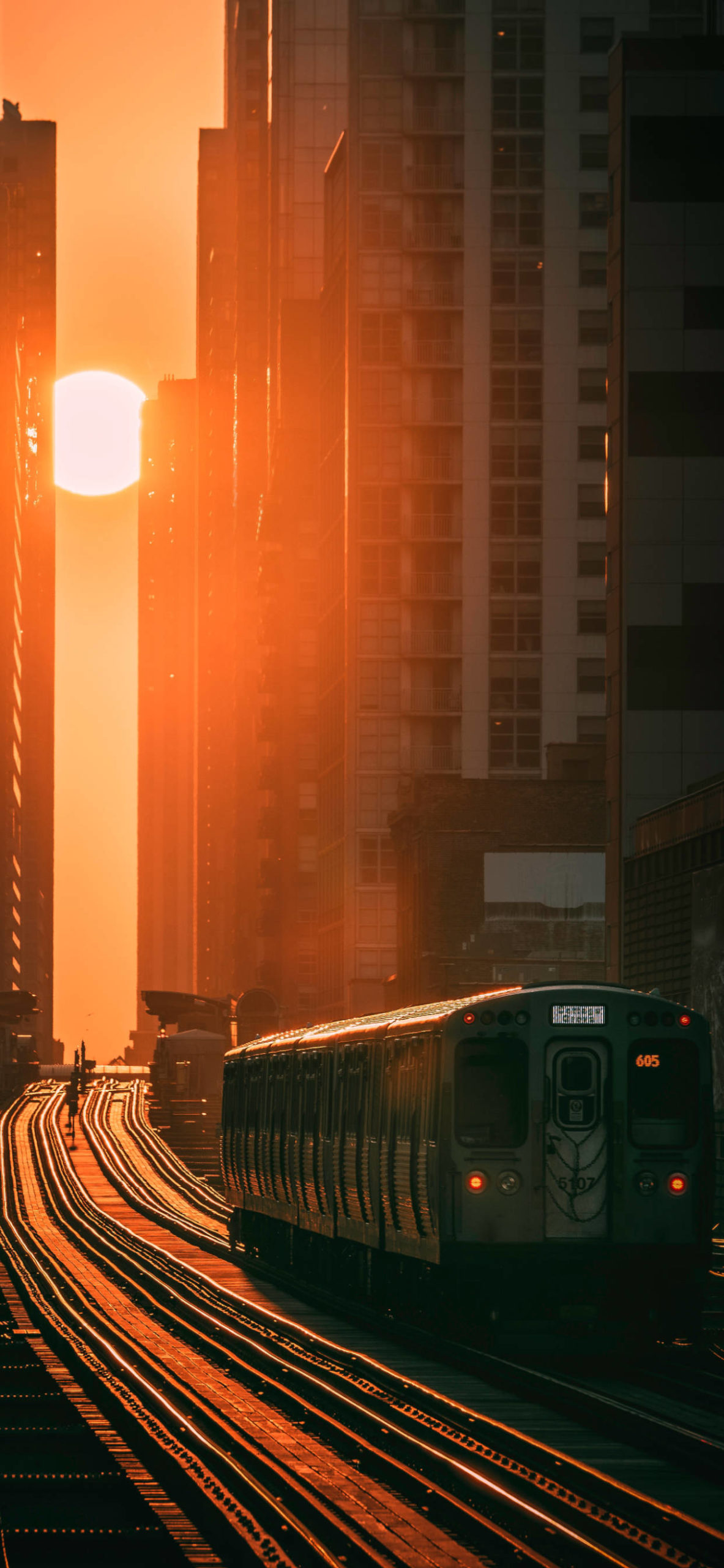 iPhone wallpapers train sunset scaled Train