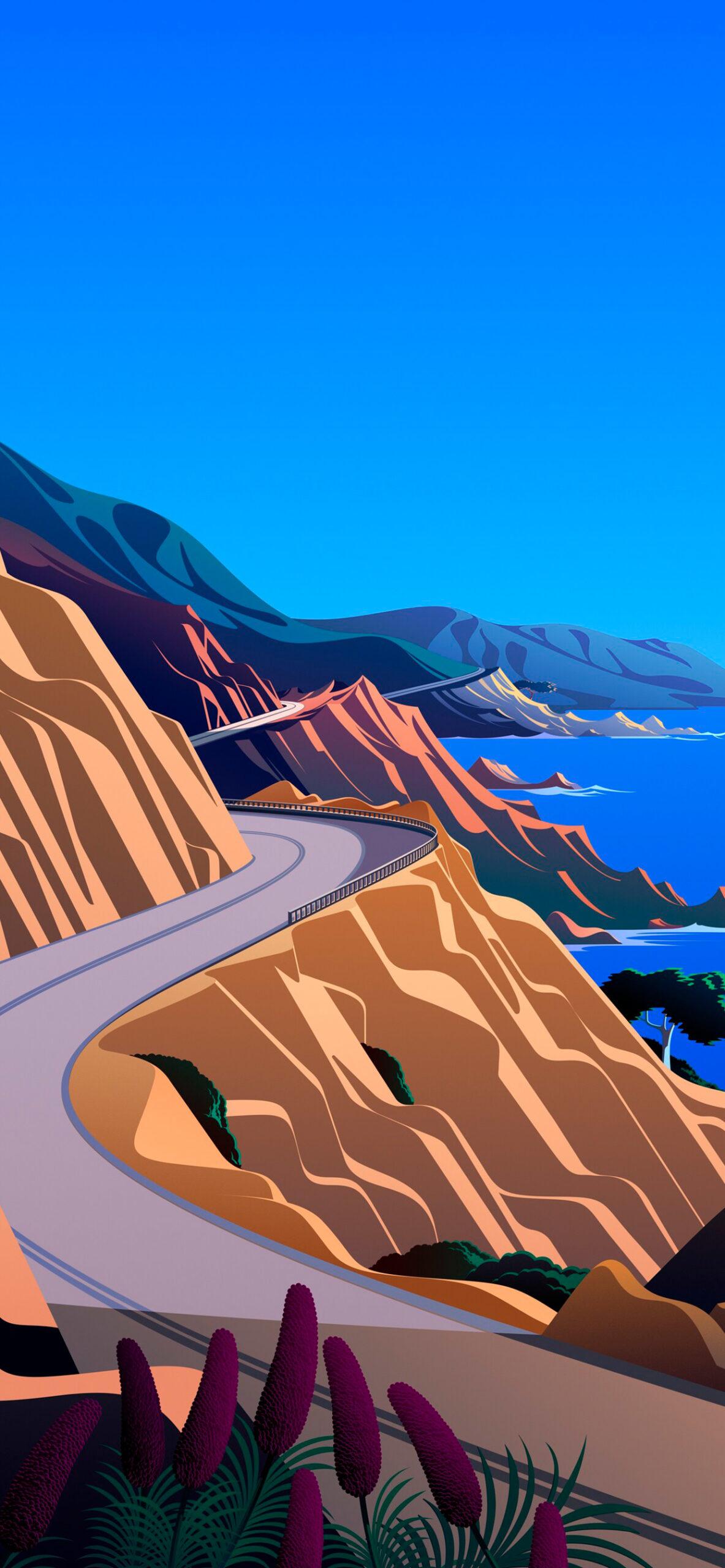 iphone wallpaper big sur cliffs3 scaled Mac OS Big Sur (Cliffs)