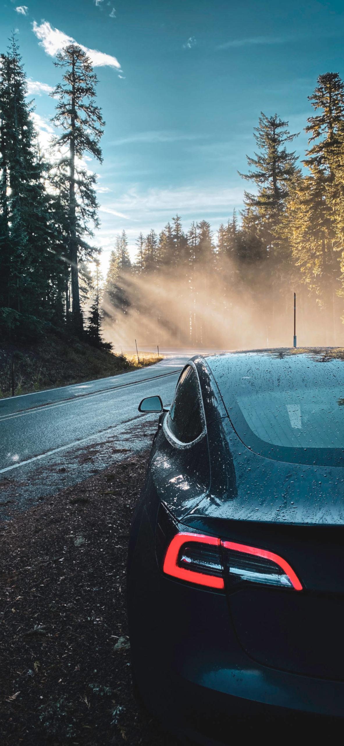 iPhone wallpapers tesla road scaled Tesla