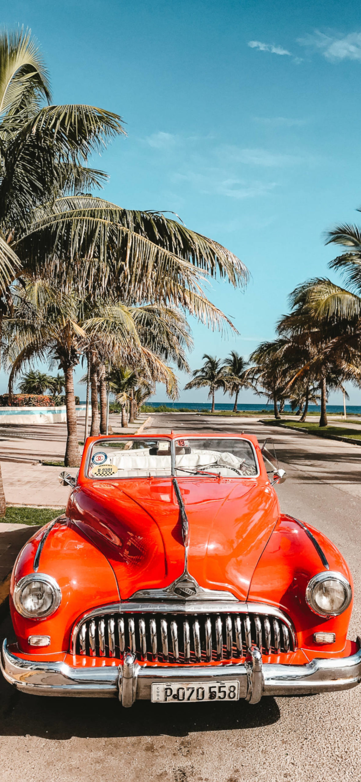iPhone wallpapers cuba beach car scaled Cuba