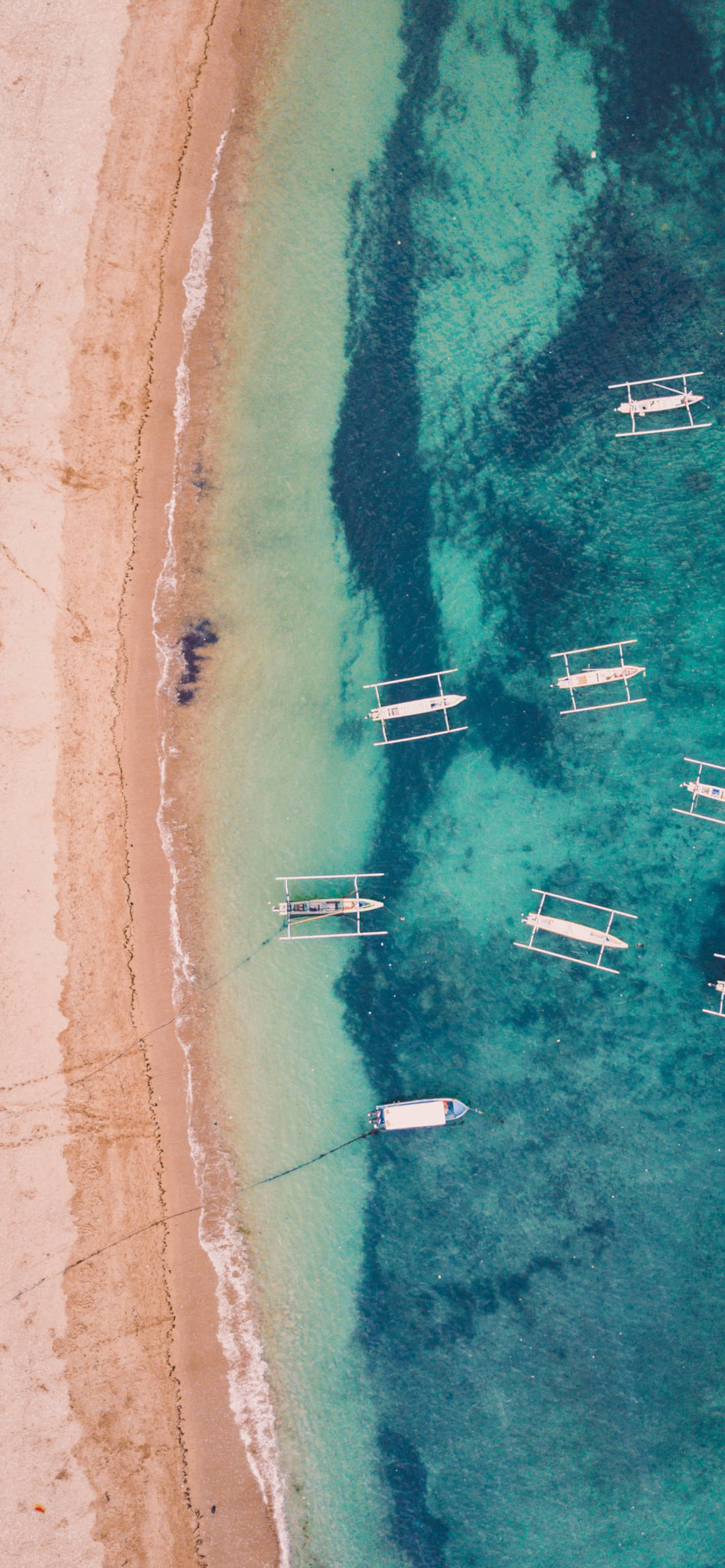 iPhone wallpapers dron view beach blue Drone view