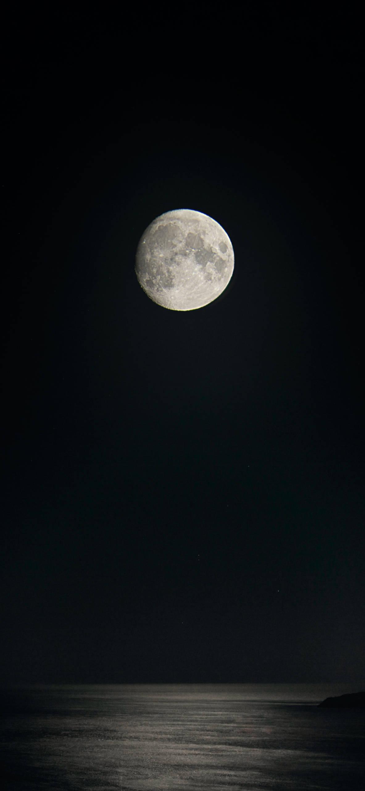 iPhone wallpapers moon full sea Moon